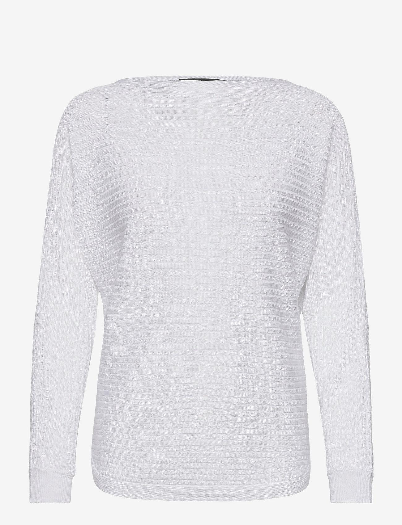 Lauren Ralph Lauren - Cable-Knit Boatneck Sweater - trøjer - white - 0