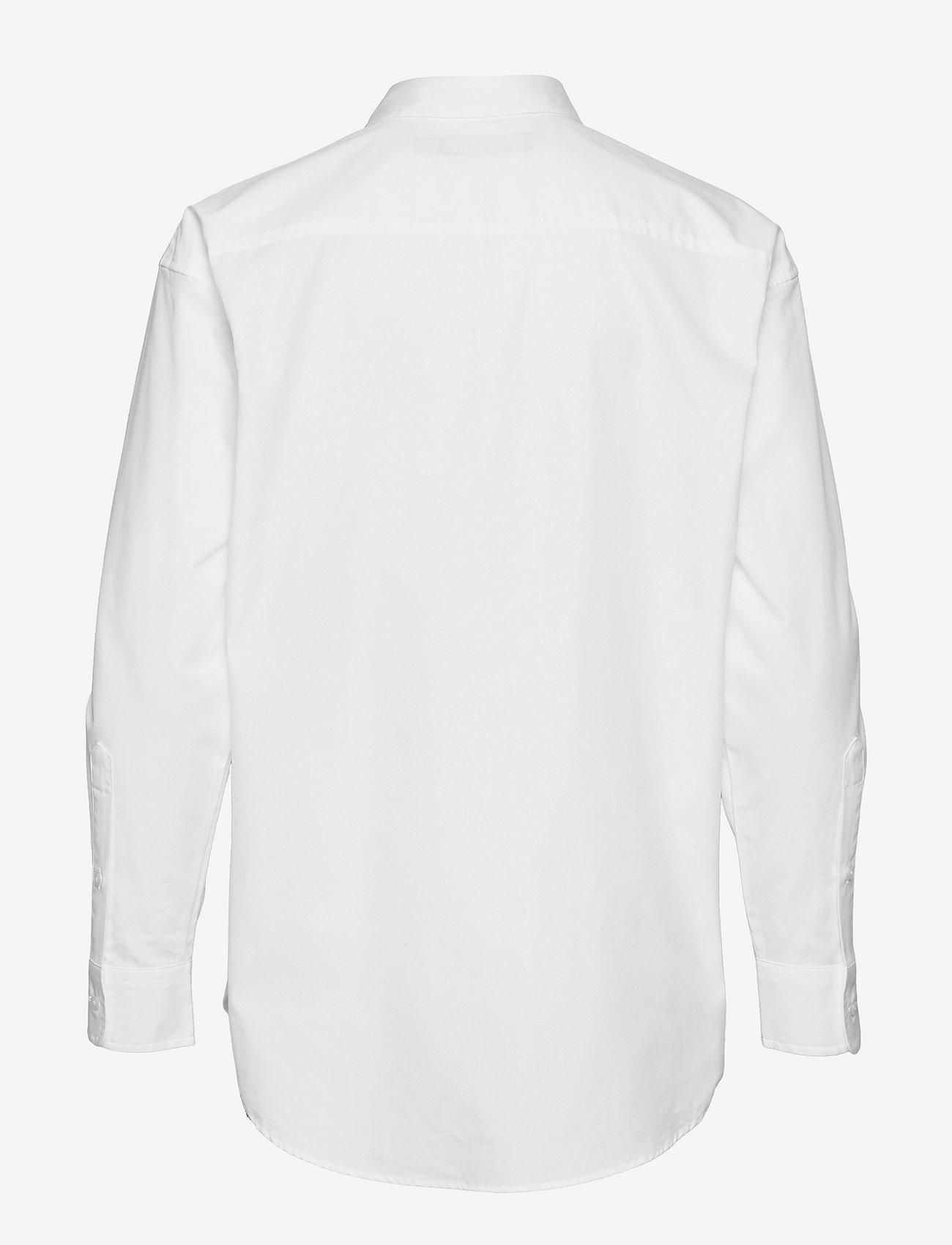 Lauren Ralph Lauren - Logo Cotton Broadcloth Shirt - langærmede skjorter - white - 1