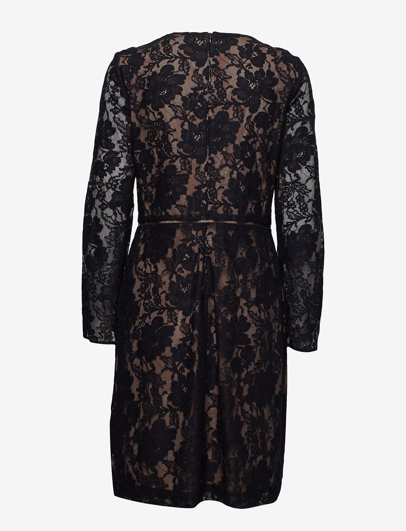 Lauren Ralph Lauren 173D-VEDA SCLP LACE-ALUNA W/ TRIM - Kjoler BLACK - Dametøj Særtilbud
