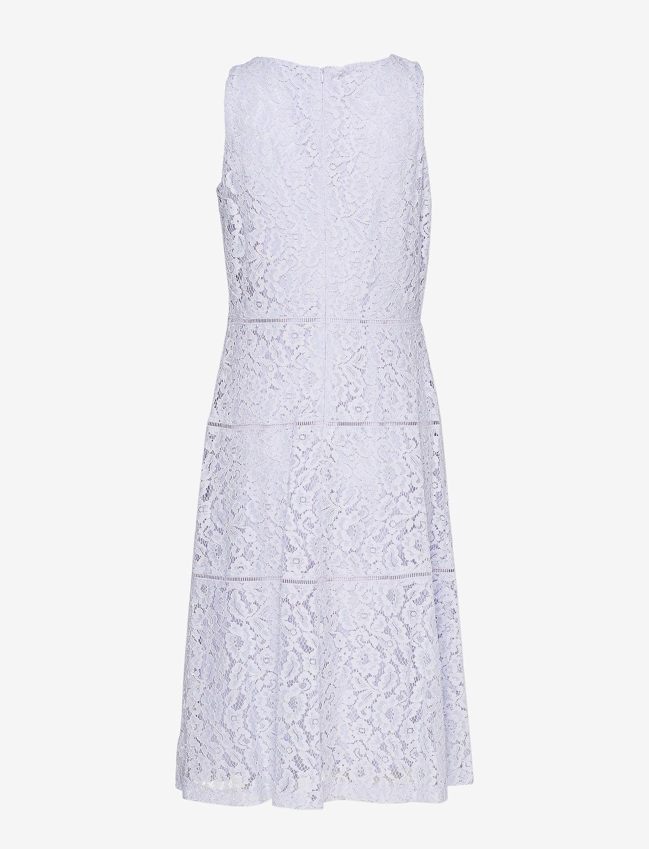 Lace Fit-and-flare Dress (Blue Orchid) - Lauren Ralph Lauren BlMKkp