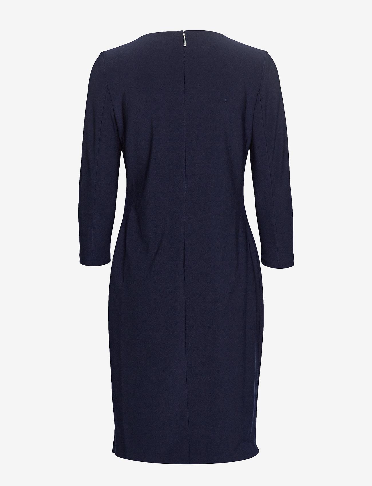 Lauren Ralph Lauren BONDED MJ-DRESS W/ TRIM - Sukienki LIGHTHOUSE NAVY - Kobiety Odzież.