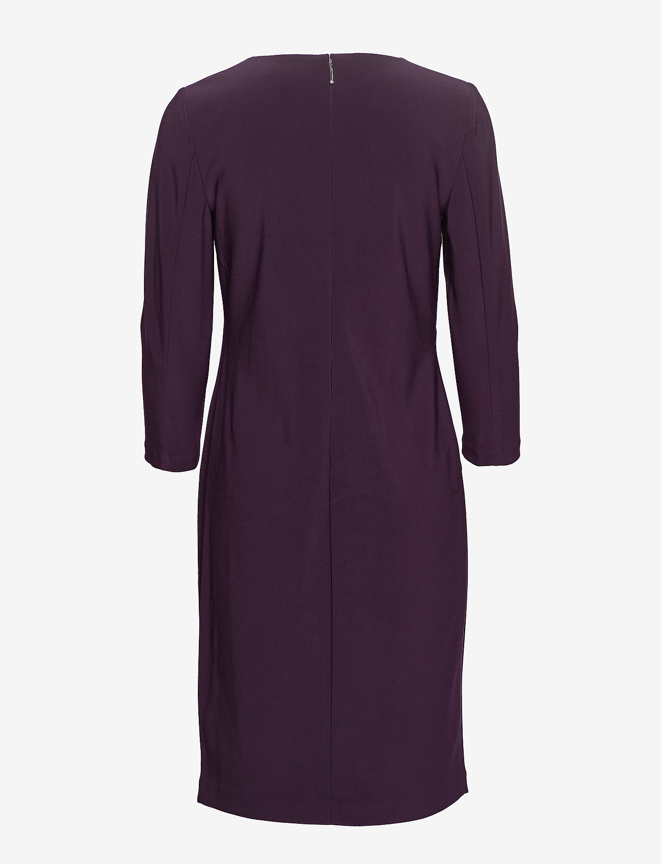 Lauren Ralph Lauren - BONDED MJ-DRESS W/ TRIM - midimekot - raisin