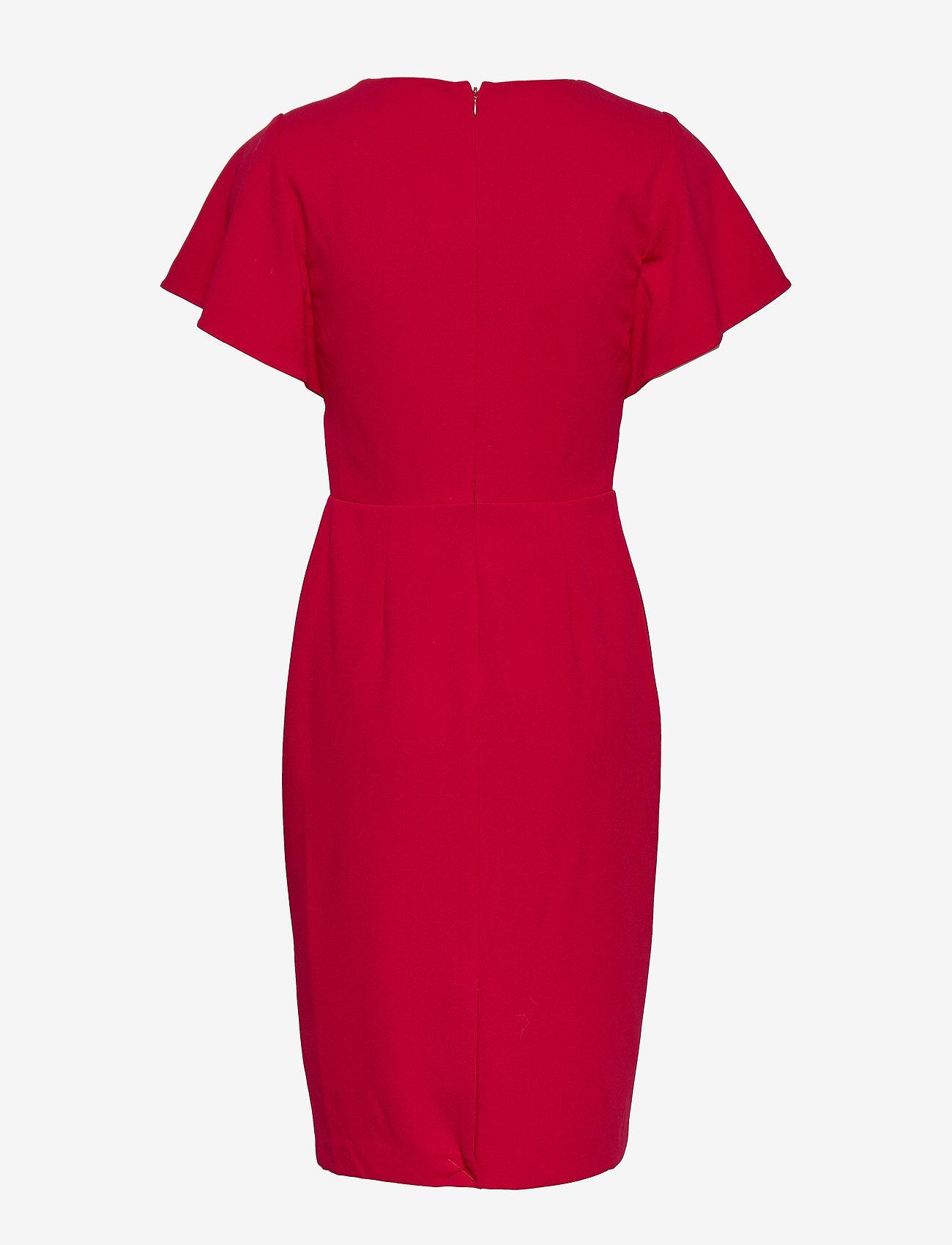 Lauren Ralph Lauren LUXE TECH CREPE-DRESS - Sukienki SCARLET RED - Kobiety Odzież.