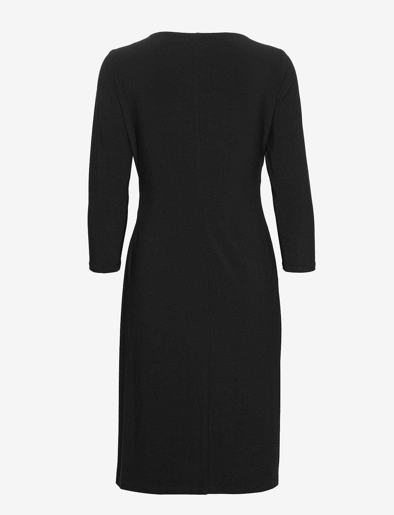 Lauren Ralph Lauren - Jersey Surplice Dress - stramme kjoler - black - 1