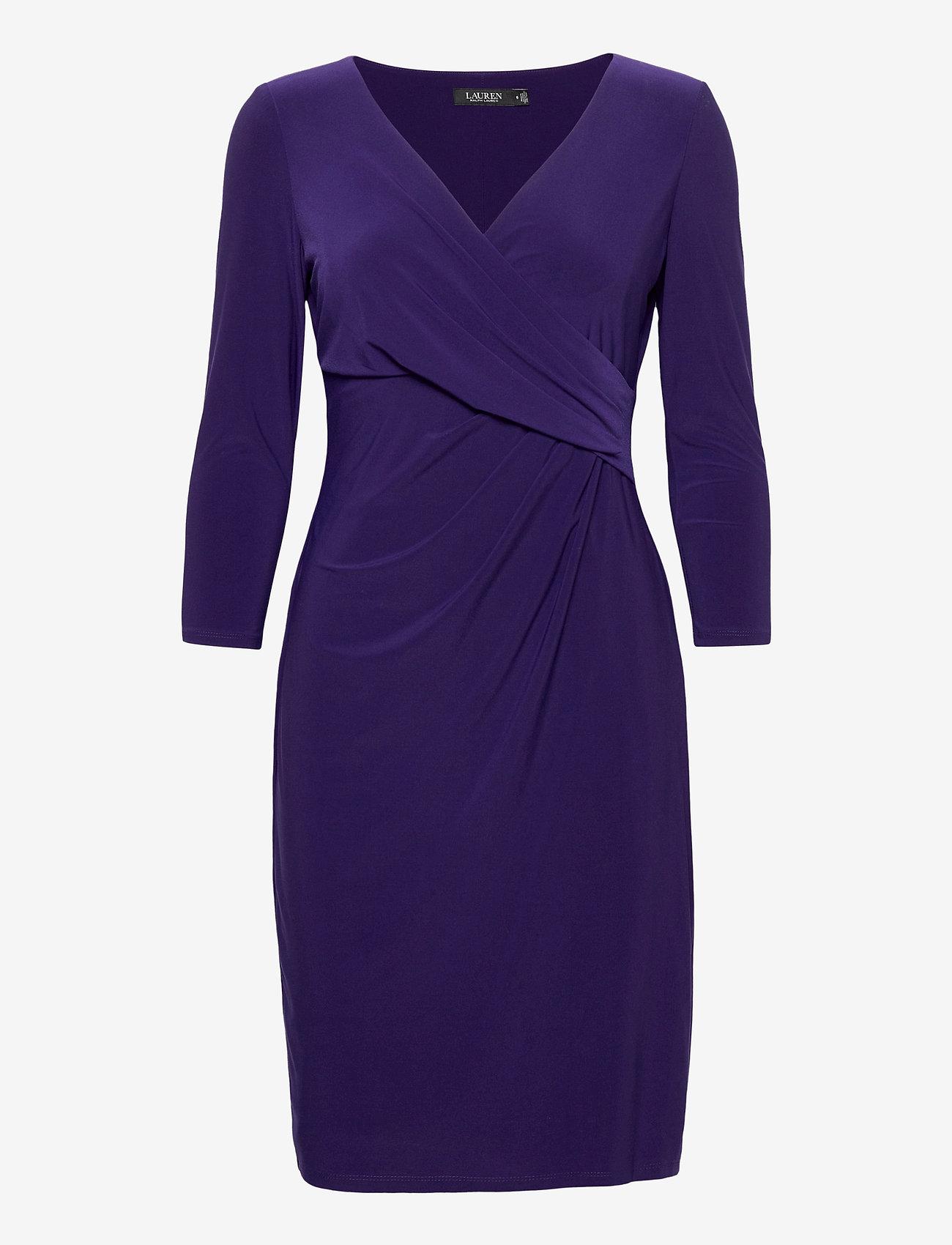 Lauren Ralph Lauren - Wrap-Front Jersey Dress - stramme kjoler - deep ultraviolet - 1