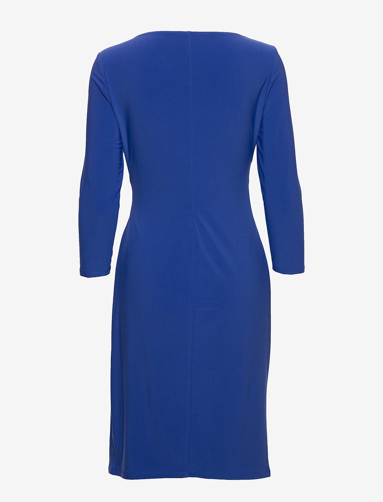Lauren Ralph Lauren - Surplice Jersey Dress - midi kjoler - regal sapphire - 1