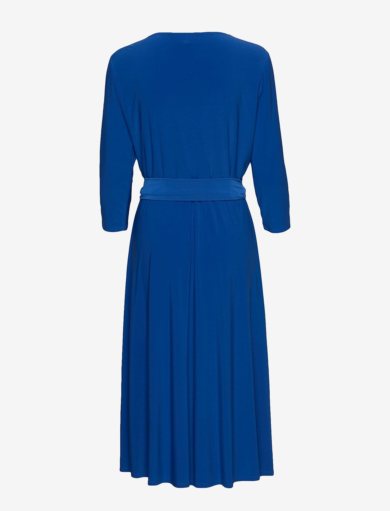 Surplice Jersey Dress (Regal Sapphire) - Lauren Ralph Lauren Q56vHp