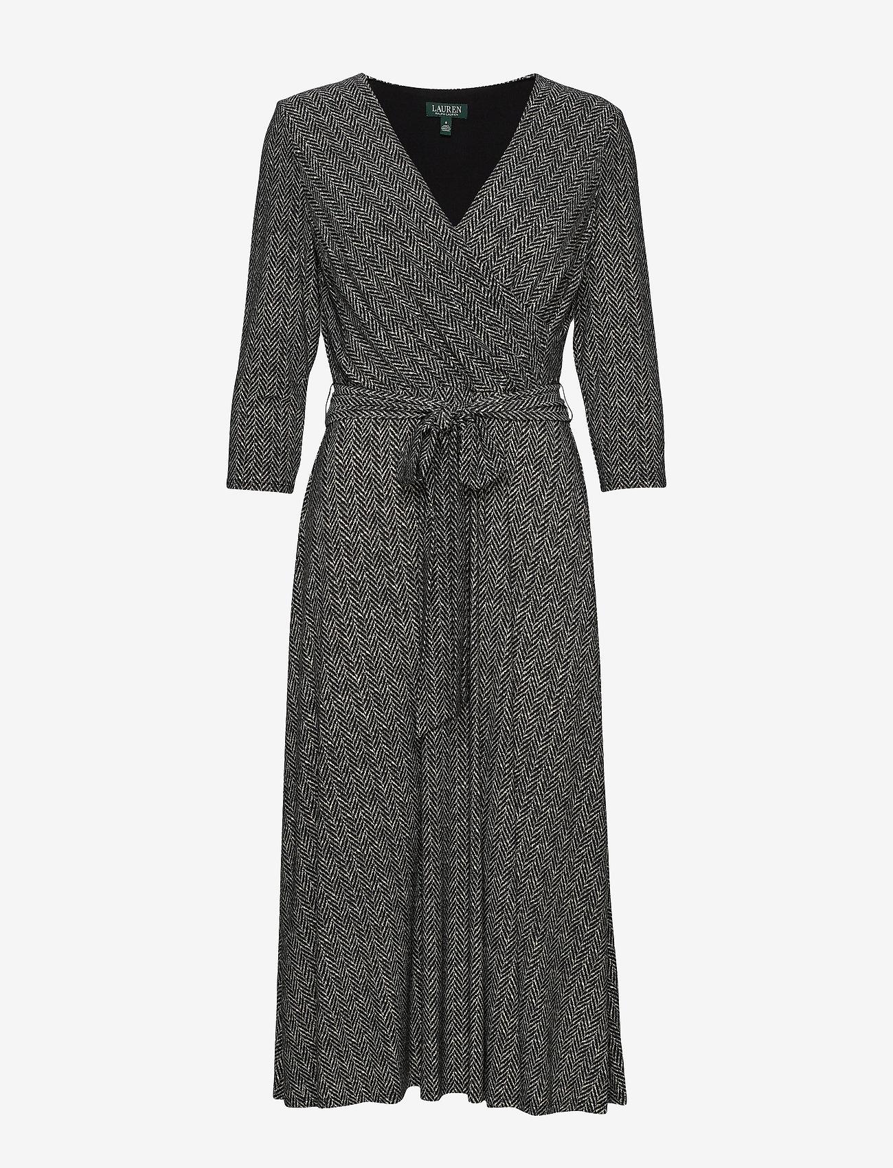 Lauren Ralph Lauren - PRINTED MATTE JRSY-DRESS - wrap dresses - sparkling champag - 0