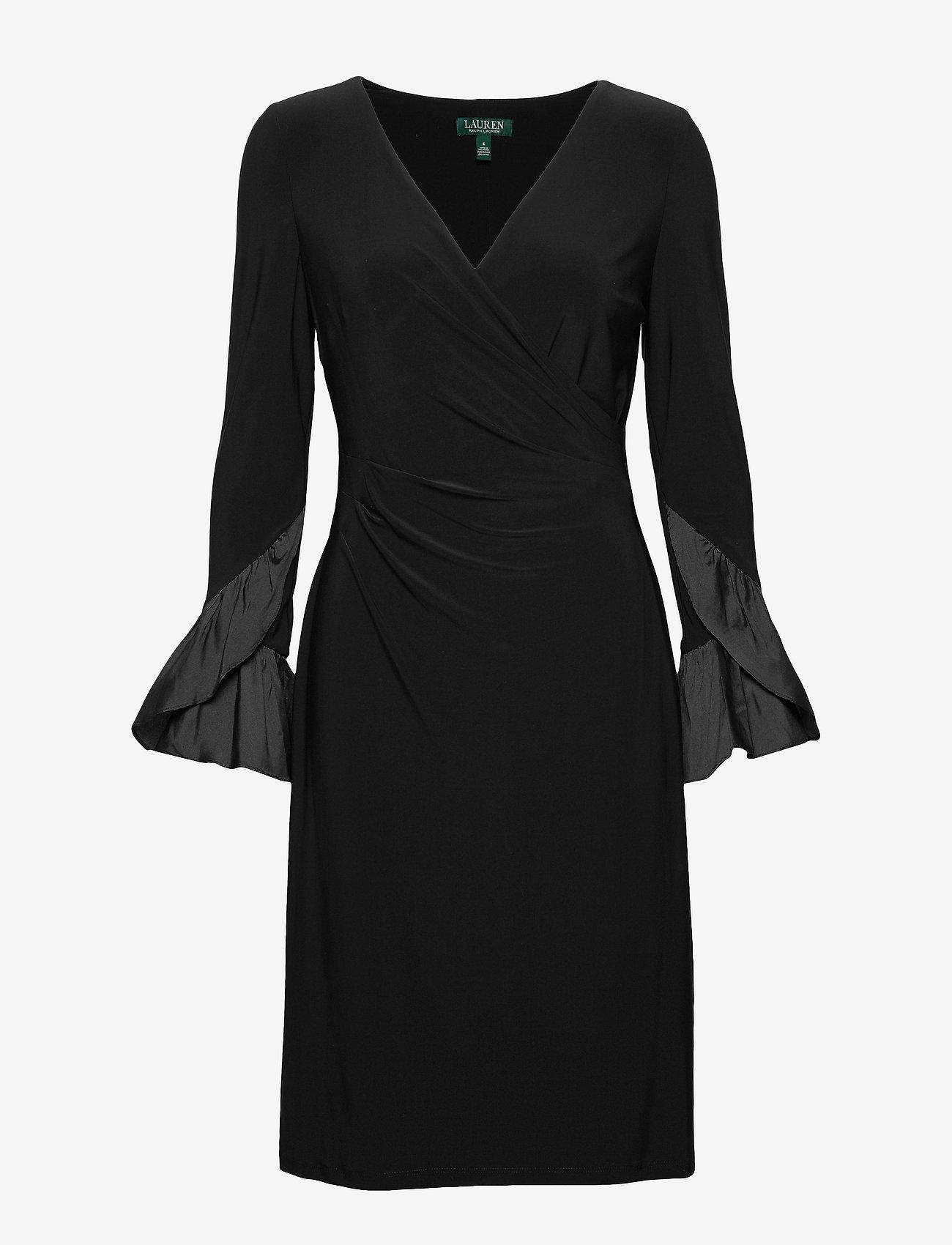 Lauren Ralph Lauren - Ruffled-Cuff Jersey Dress - wrap dresses - black - 0