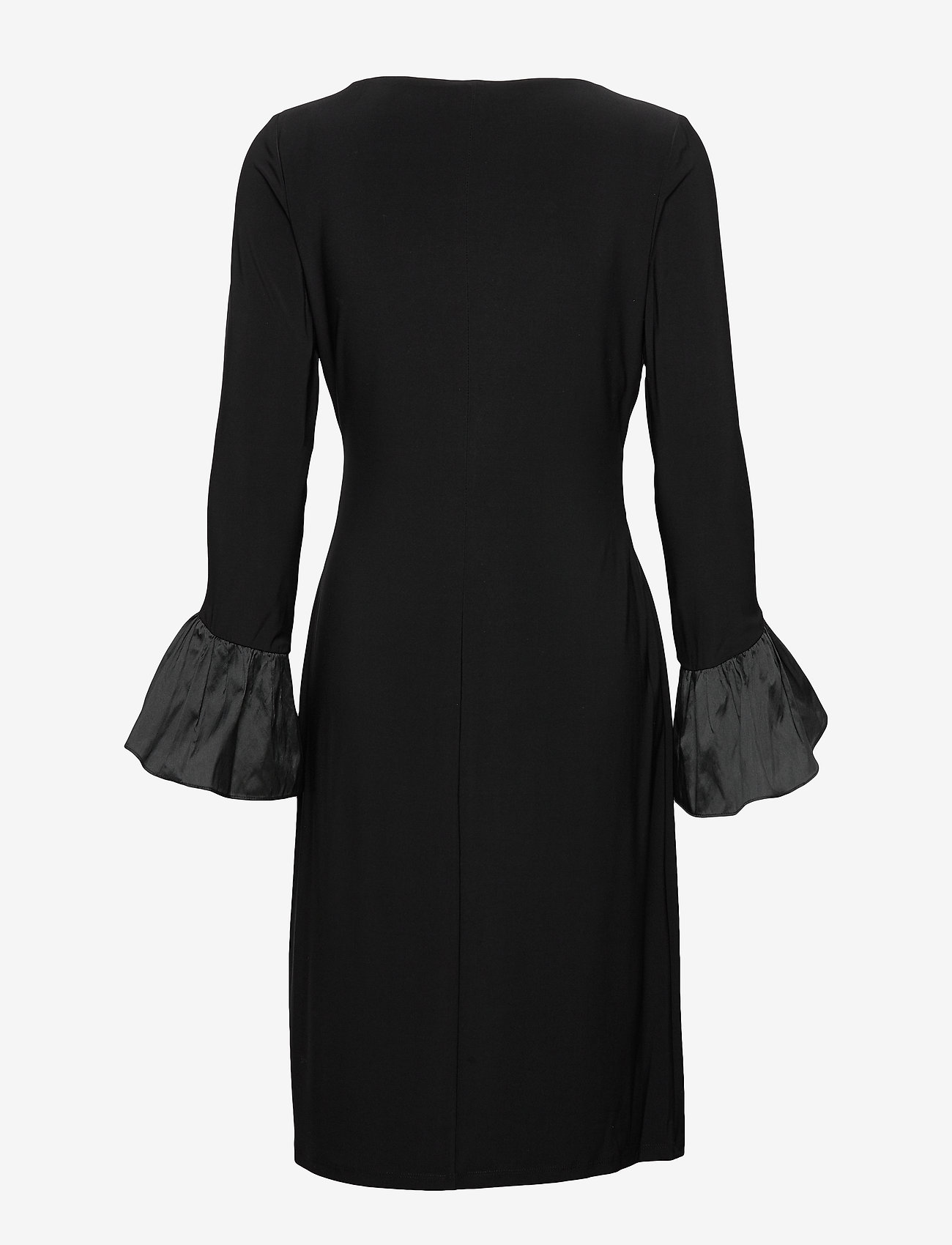 Lauren Ralph Lauren - Ruffled-Cuff Jersey Dress - wrap dresses - black - 1