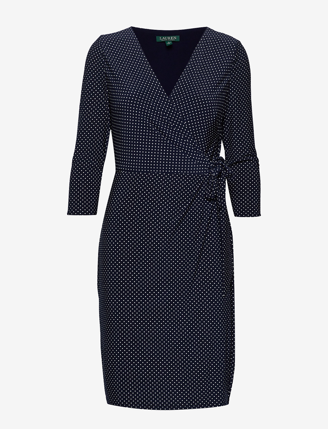 Lauren Ralph Lauren - Polka-Dot Jersey Dress - wrap dresses - lighthouse navy/c - 0