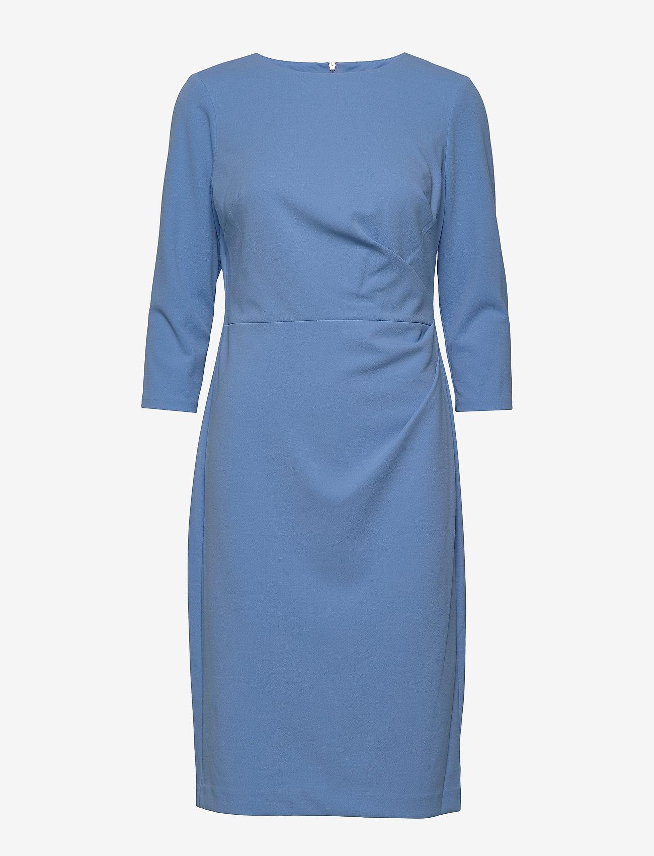 Lauren Ralph Lauren - Ruched Jersey Dress - sukienki do kolan i midi - eos blue - 0