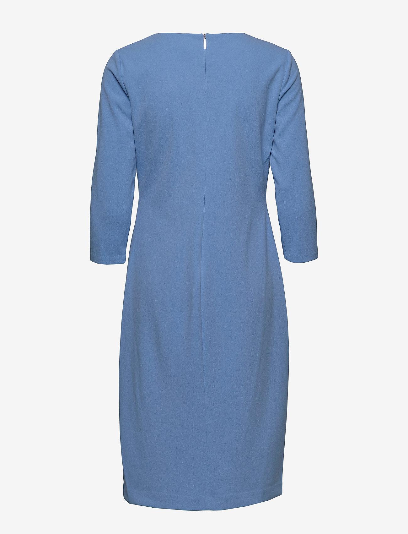 Lauren Ralph Lauren - Ruched Jersey Dress - sukienki do kolan i midi - eos blue - 1