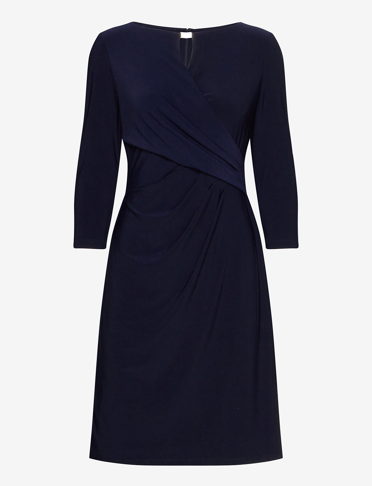 Lauren Ralph Lauren - Wrap-Style Jersey Dress - midi kjoler - lighthouse navy - 1