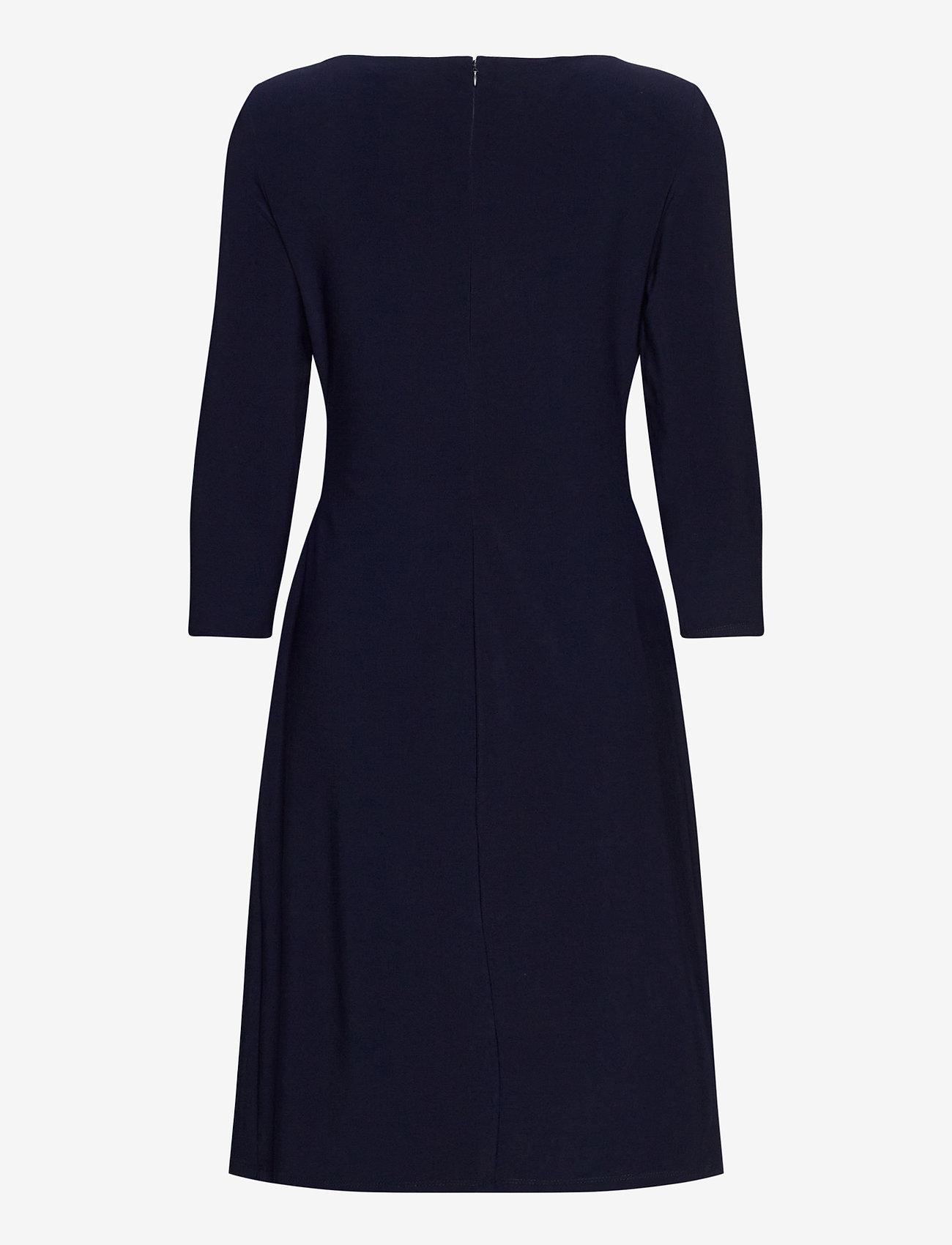 Lauren Ralph Lauren - Wrap-Style Jersey Dress - midi kjoler - lighthouse navy - 1