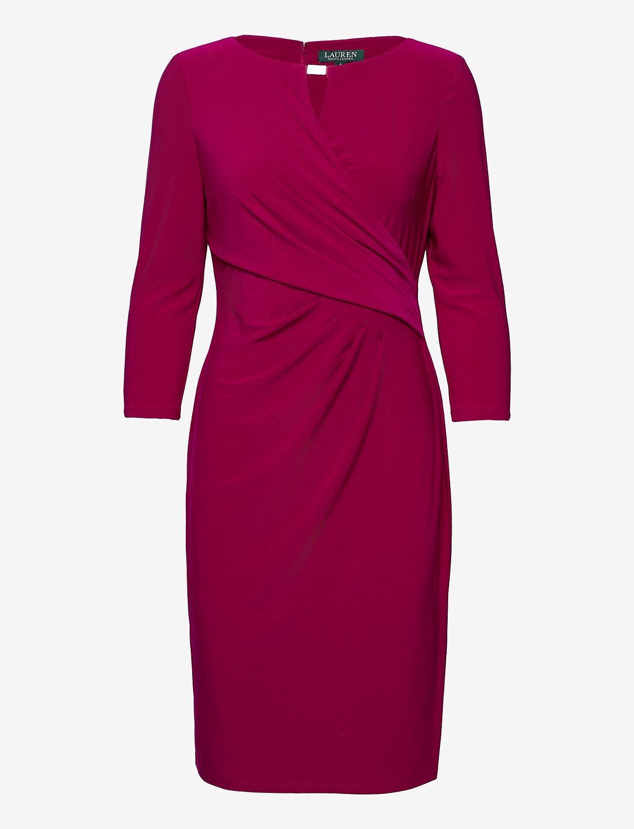 Lauren Ralph Lauren - Wrap-Style Jersey Dress - midi kjoler - modern dahlia - 1