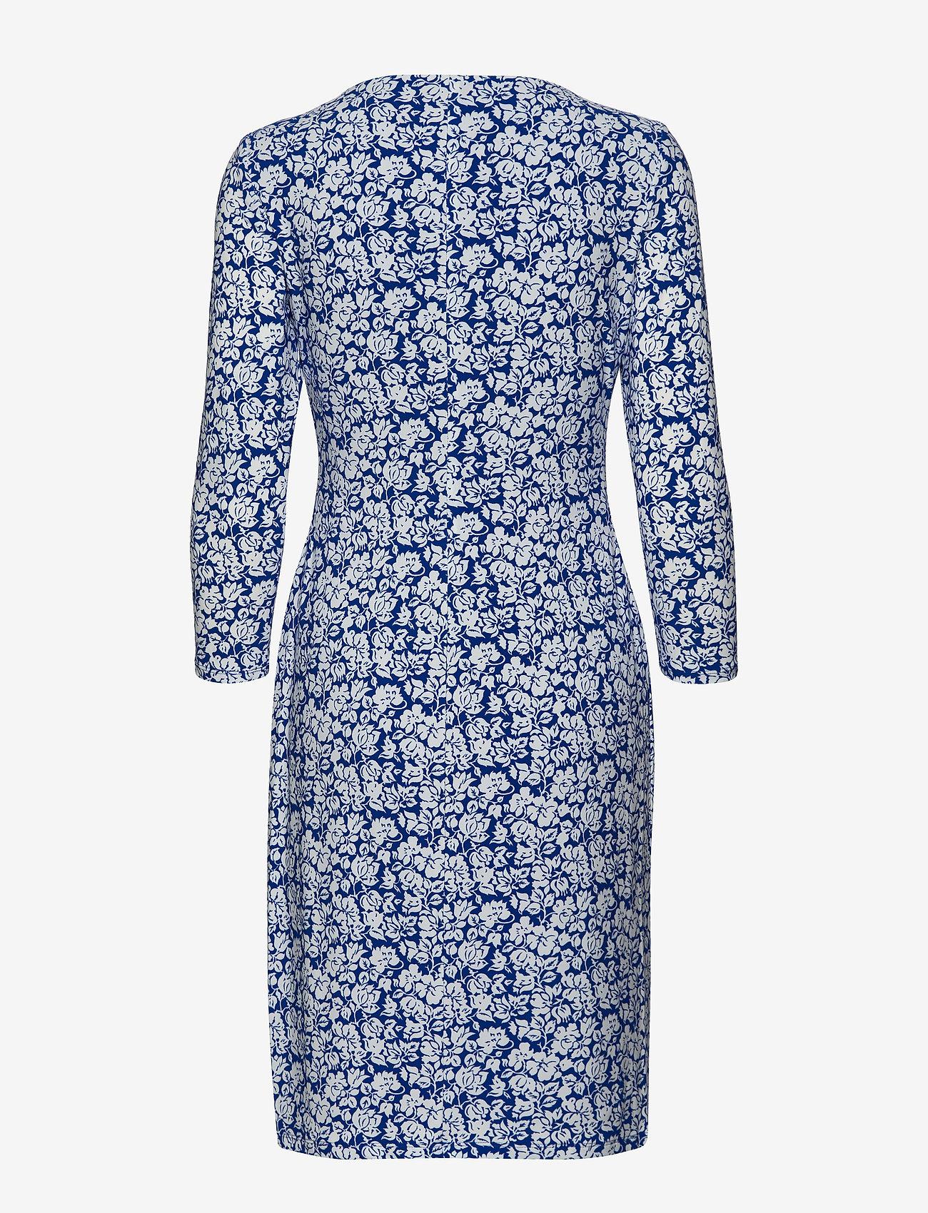 Lauren Ralph Lauren - Print Surplice Jersey Dress - stramme kjoler - regal sapphire/co - 1