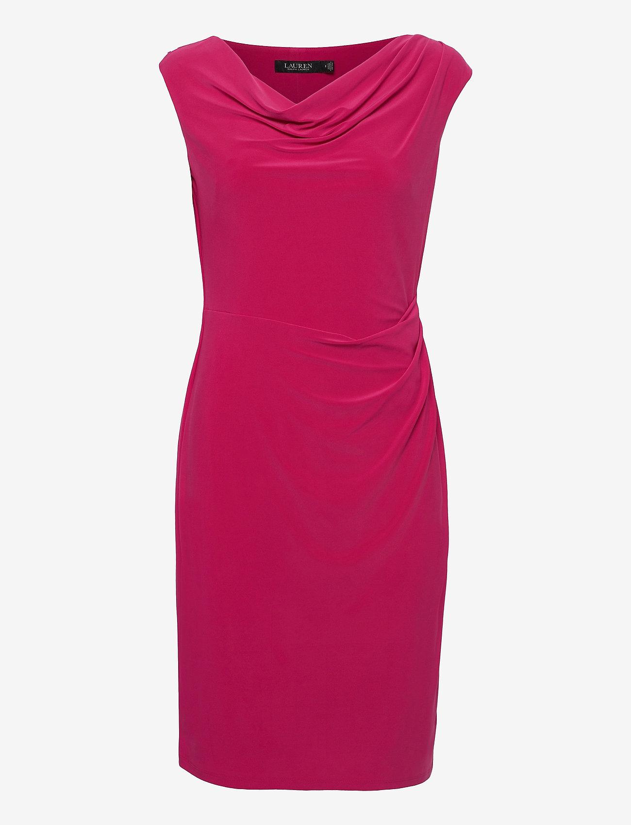 Lauren Ralph Lauren - Jersey Cowlneck Dress - cocktailkjoler - aruba pink - 1