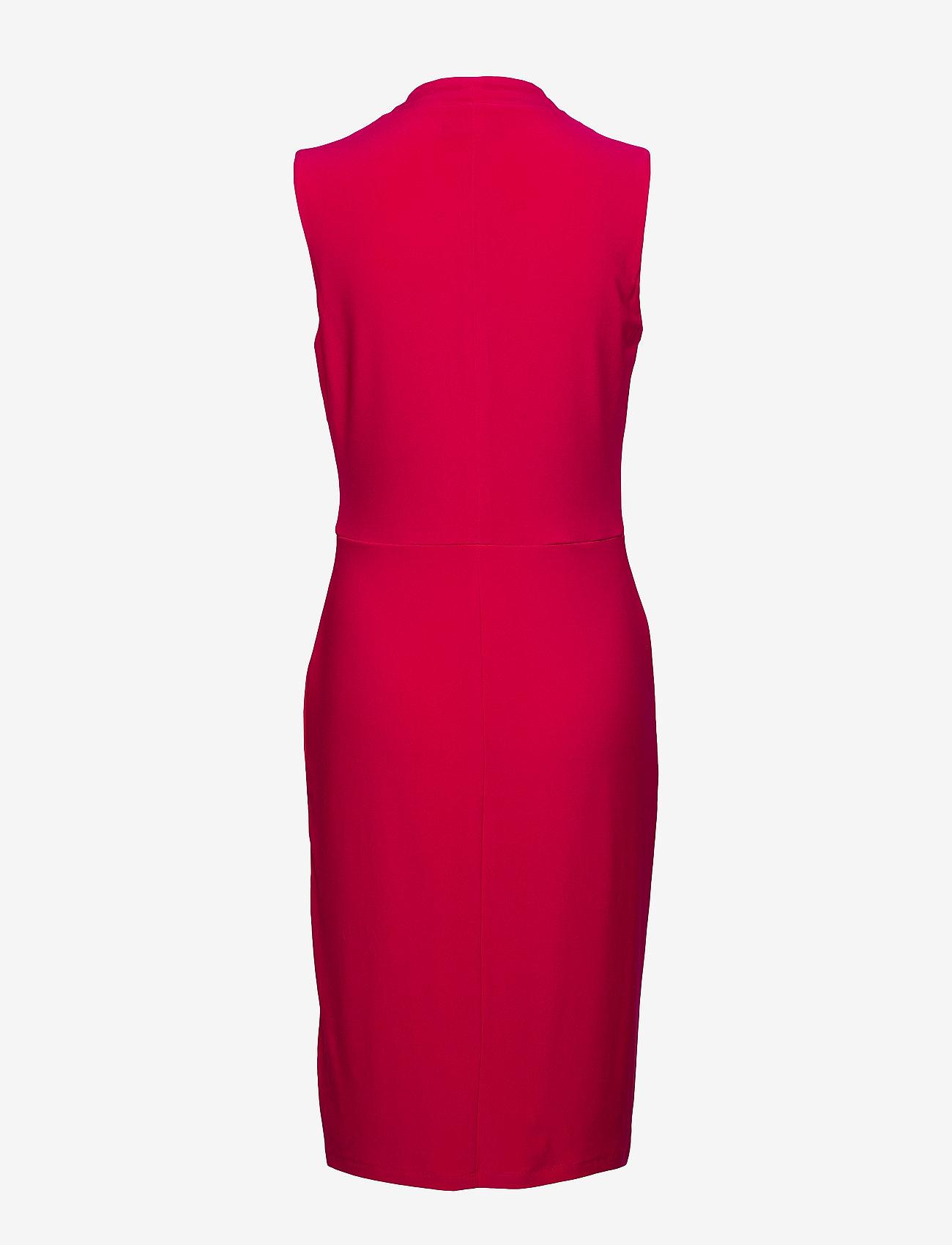 Lauren Ralph Lauren - Pleated Jersey Dress - wrap dresses - berry sorbet
