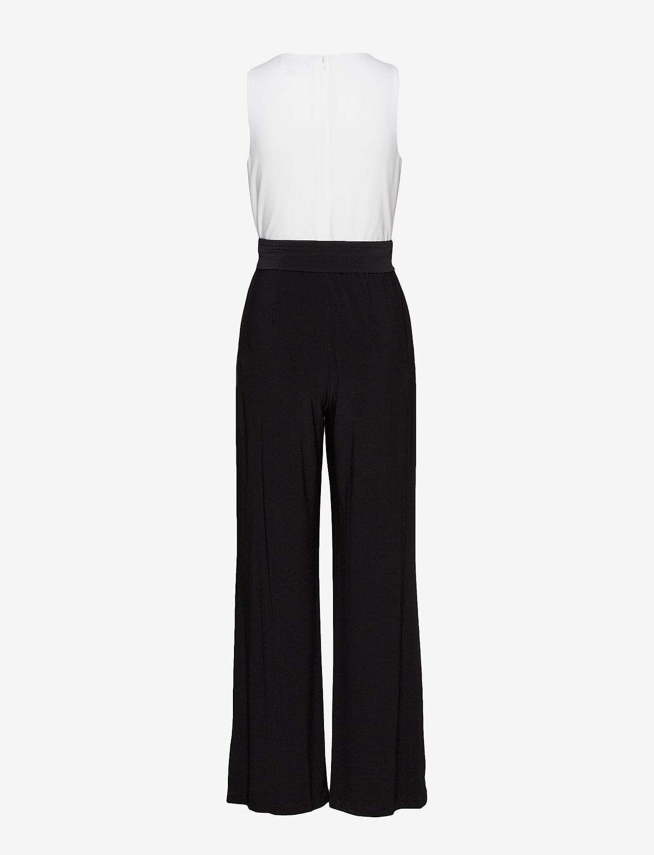 Lauren Ralph Lauren - Two-Tone Jersey Jumpsuit - buksedragter - black/lauren whit - 1