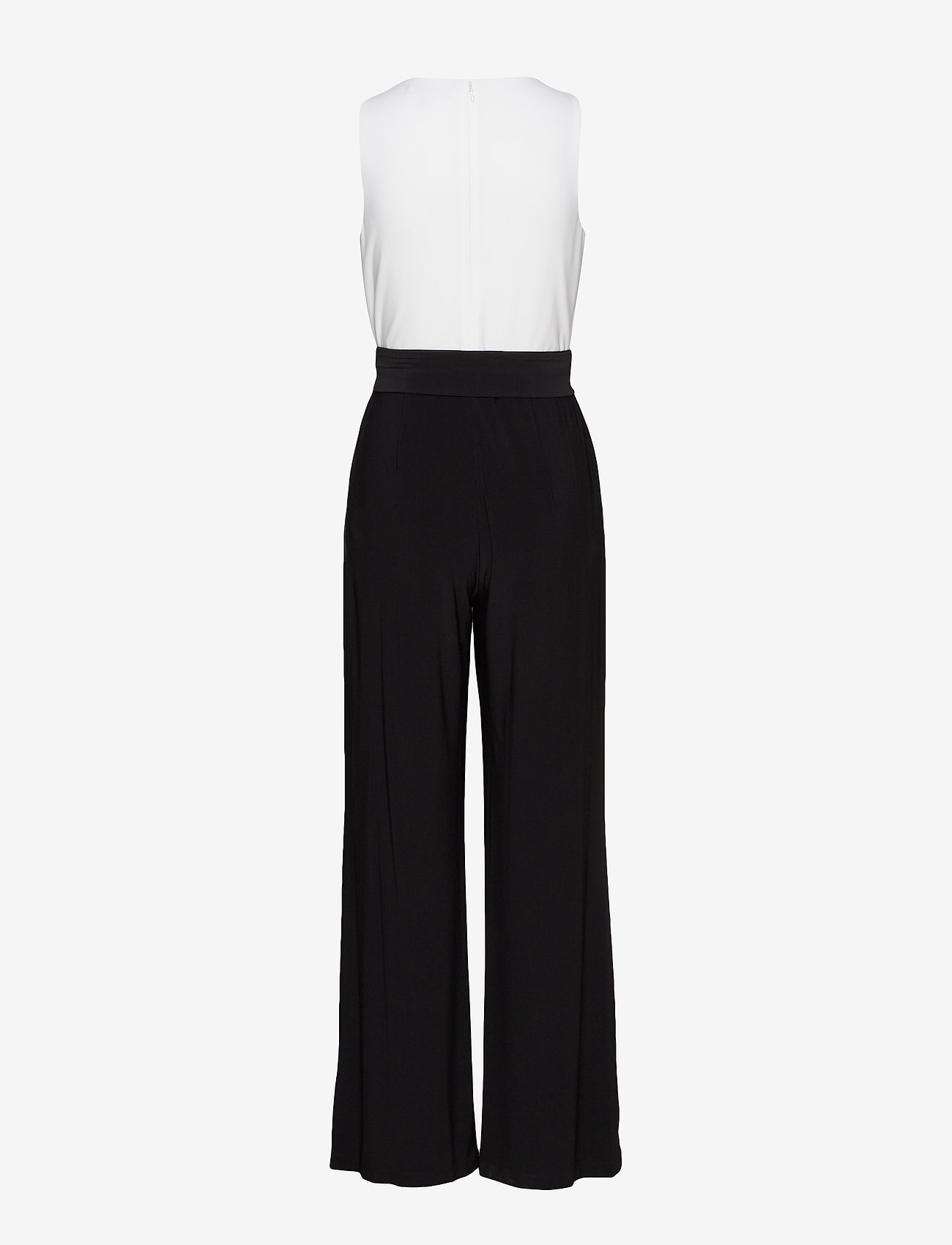 Lauren Ralph Lauren - Two-Tone Jersey Jumpsuit - jumpsuits - black/lauren whit - 1