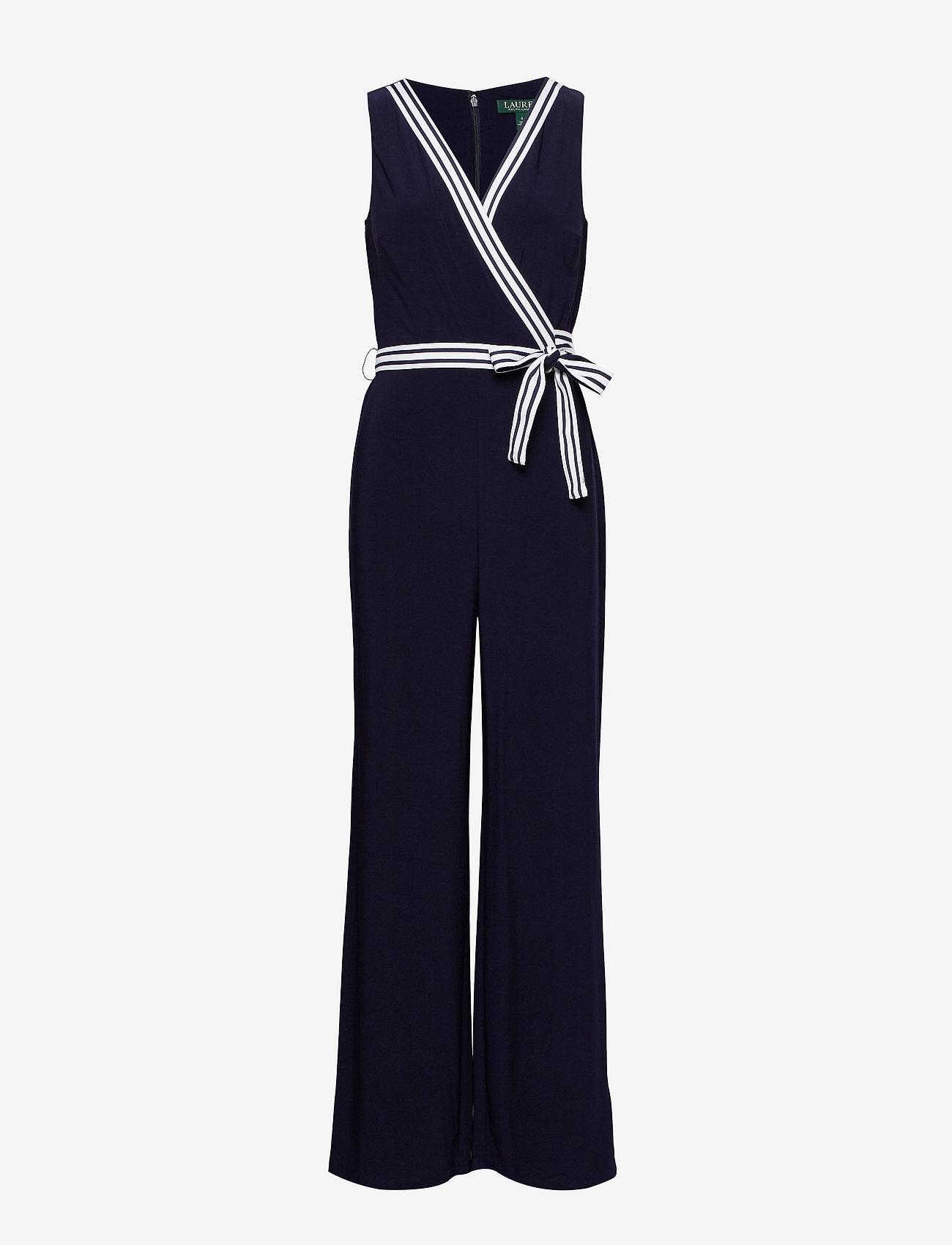 Lauren Ralph Lauren - Surplice Jersey Jumpsuit - kombinezony - lighthouse navy - 0