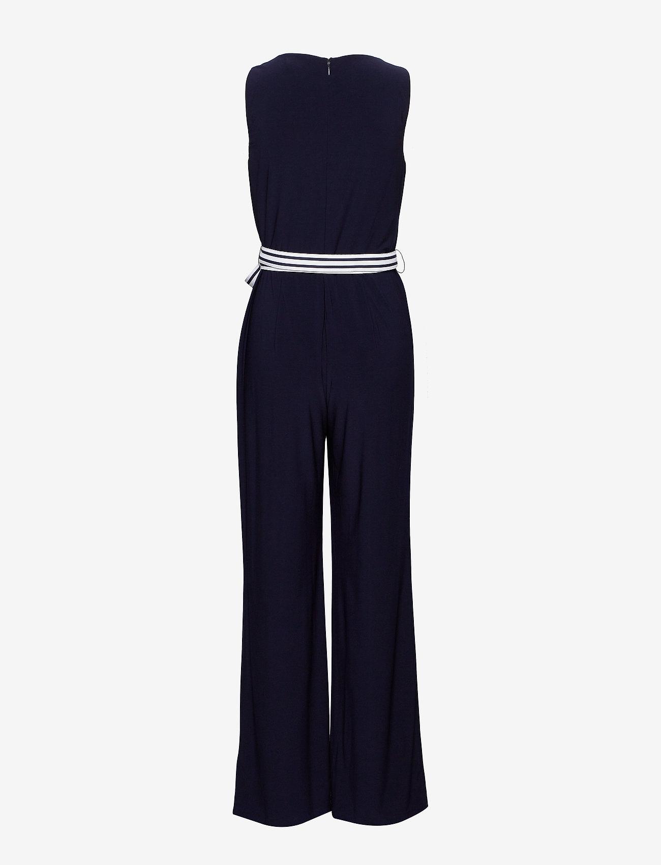 Lauren Ralph Lauren - Surplice Jersey Jumpsuit - kombinezony - lighthouse navy - 1