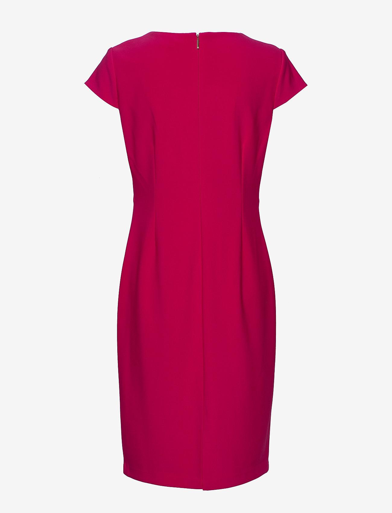 Lauren Ralph Lauren Cap-Sleeve Jersey Dress - Sukienki BERRY SORBET - Kobiety Odzież.