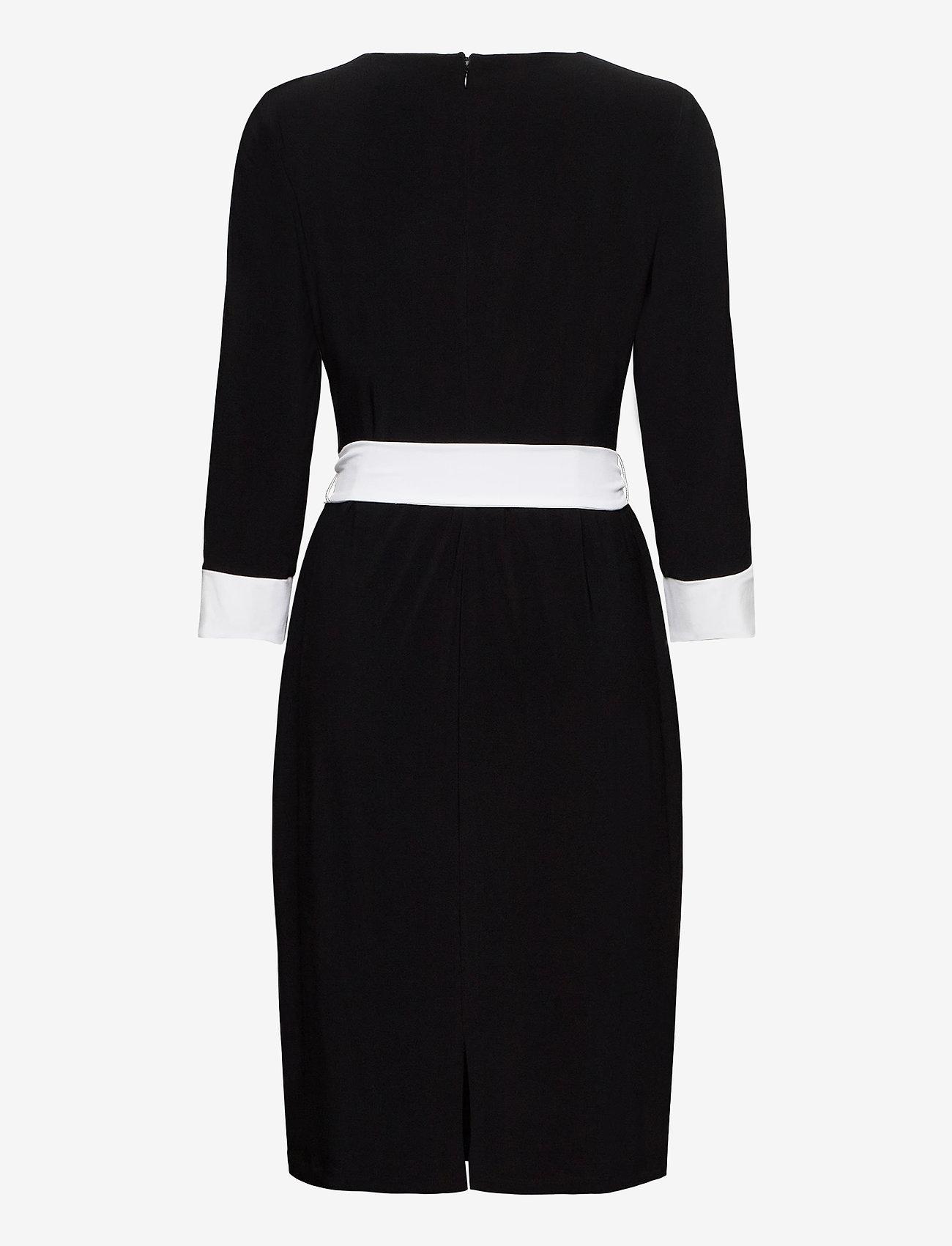 Classic Mj-2-tone Dress (Black/lauren Whit) - Lauren Ralph Lauren 2tgJyx
