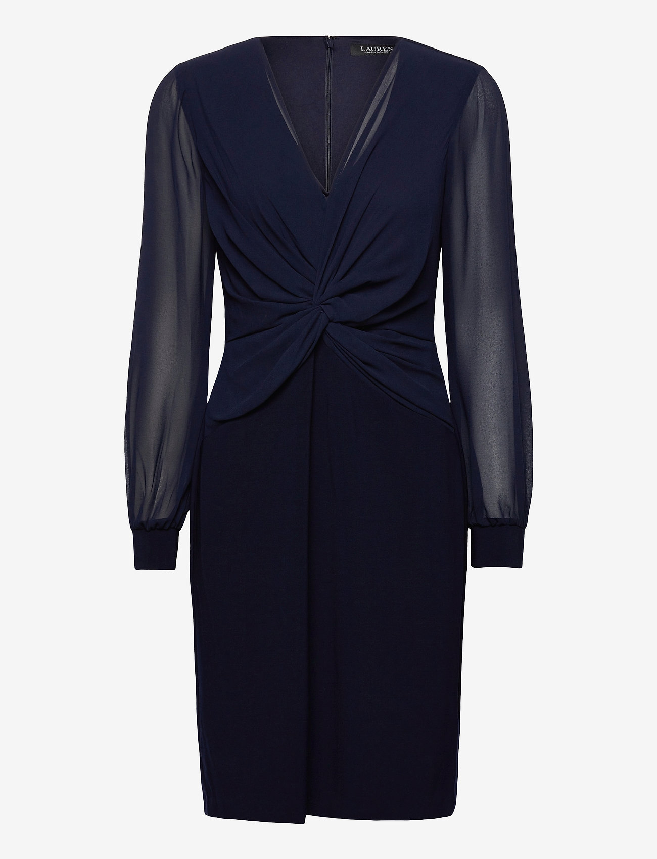 Lauren Ralph Lauren - Twist-Knot Jersey-Georgette Dress - robes de cocktail - lighthouse navy - 0