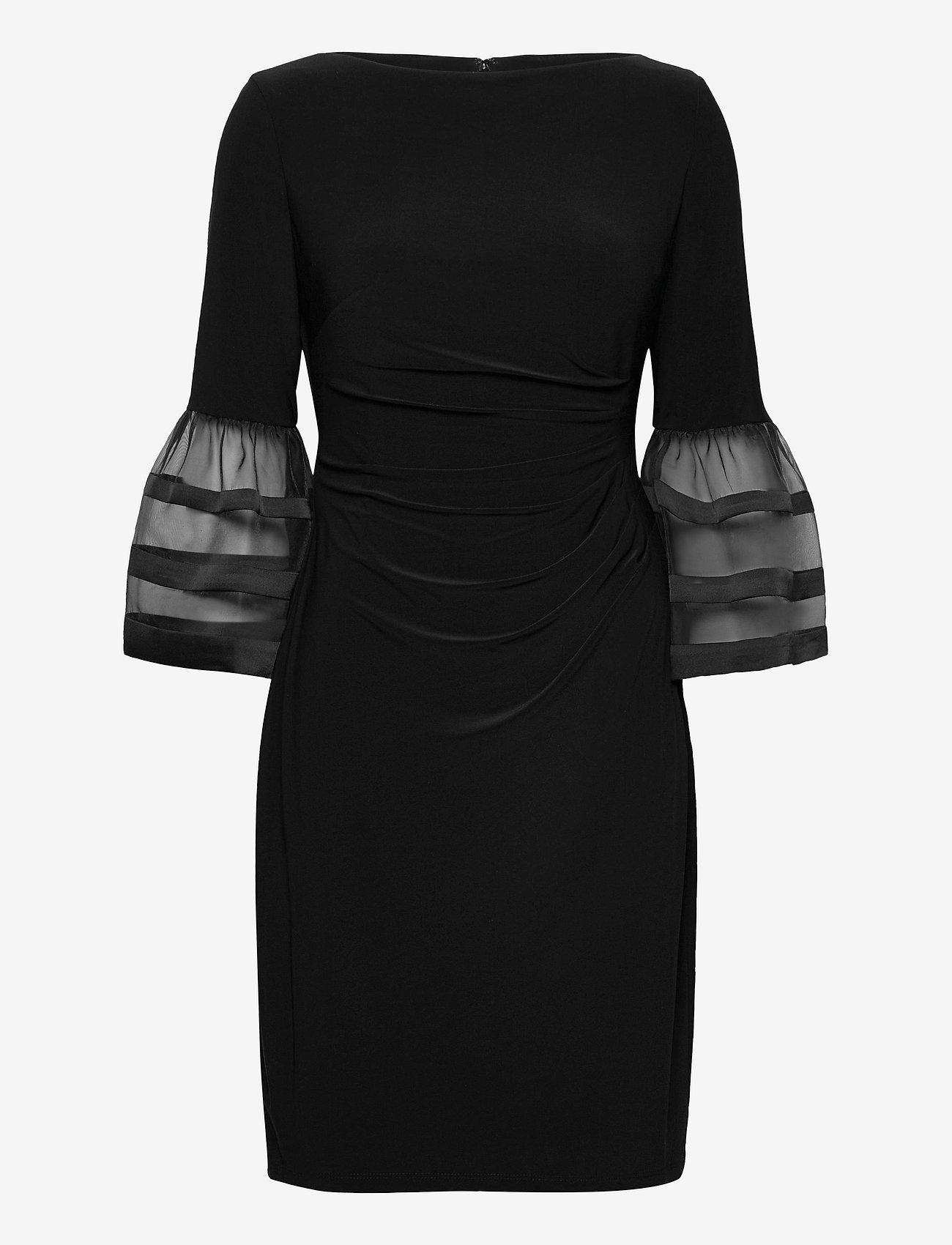 Lauren Ralph Lauren - Bell-Sleeve Jersey Dress - cocktailkjoler - black - 0
