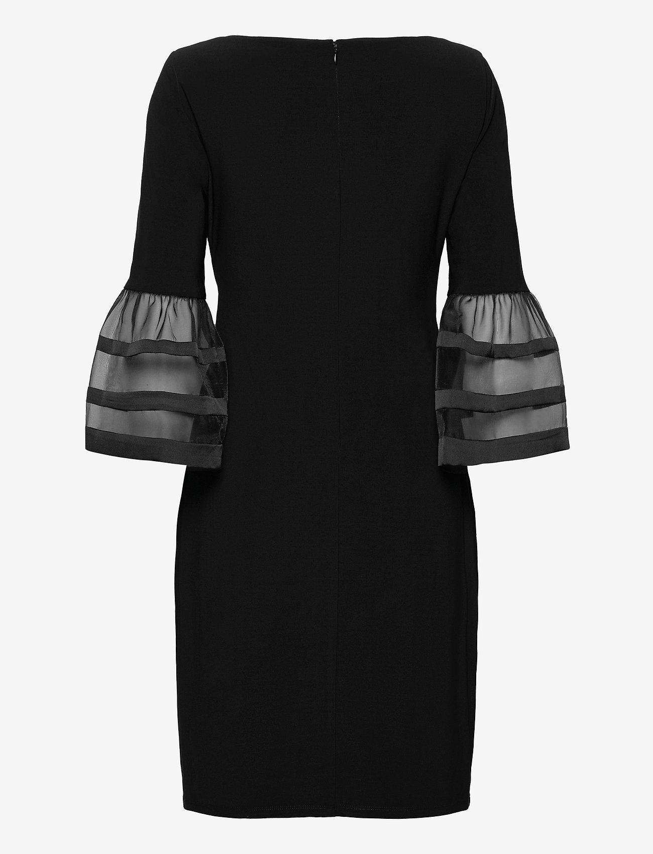 Lauren Ralph Lauren - Bell-Sleeve Jersey Dress - cocktailkjoler - black - 1