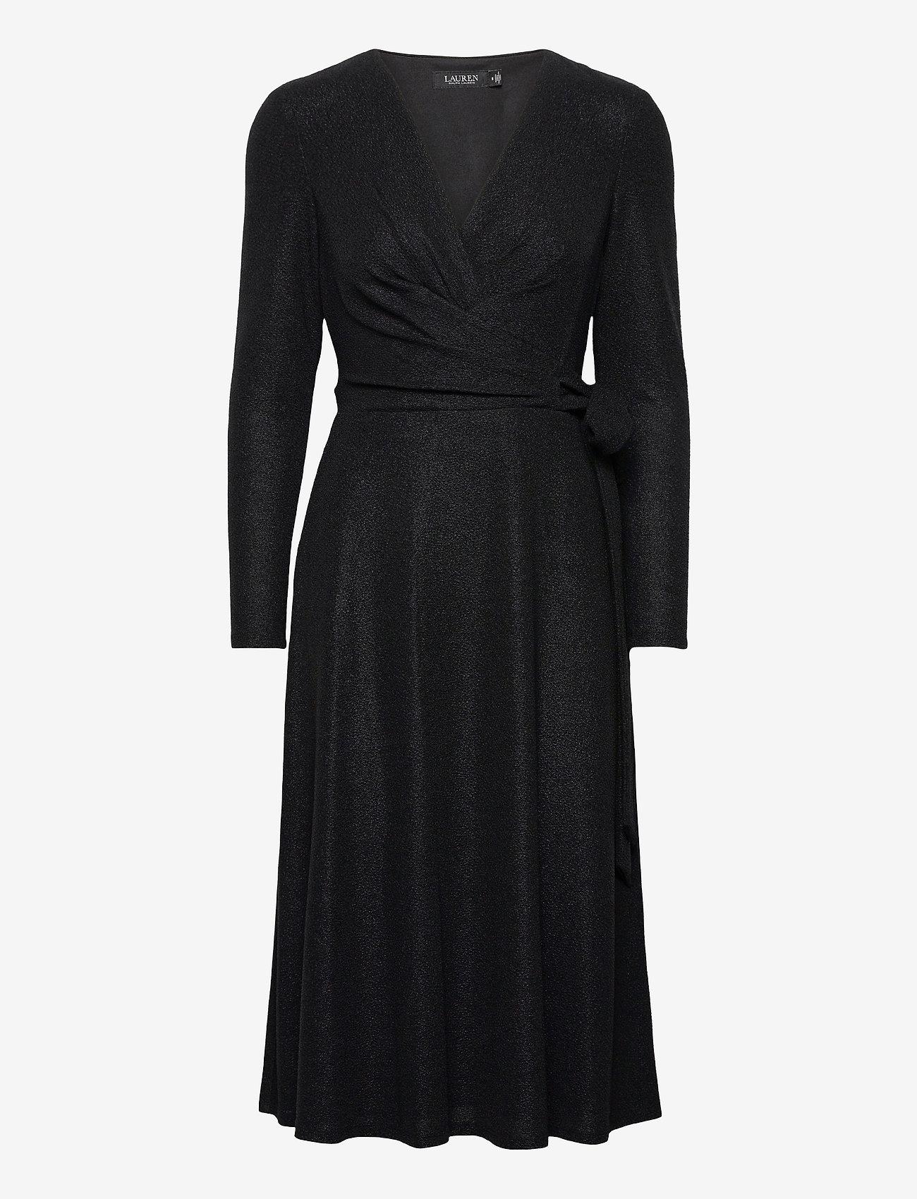 Lauren Ralph Lauren - Metallic Double-Knit Jacquard Dress - cocktailkjoler - black - 0