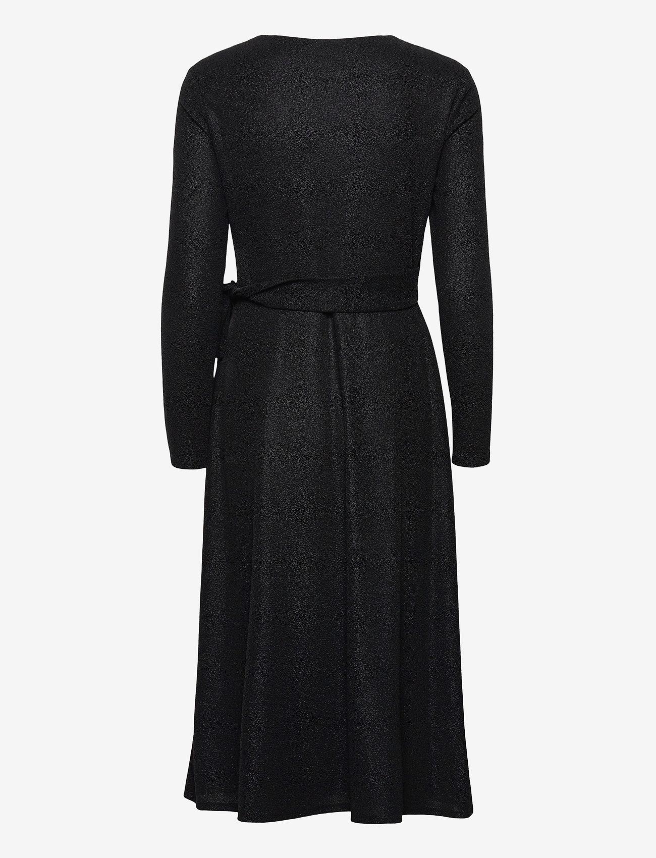 Lauren Ralph Lauren - Metallic Double-Knit Jacquard Dress - cocktailkjoler - black - 1