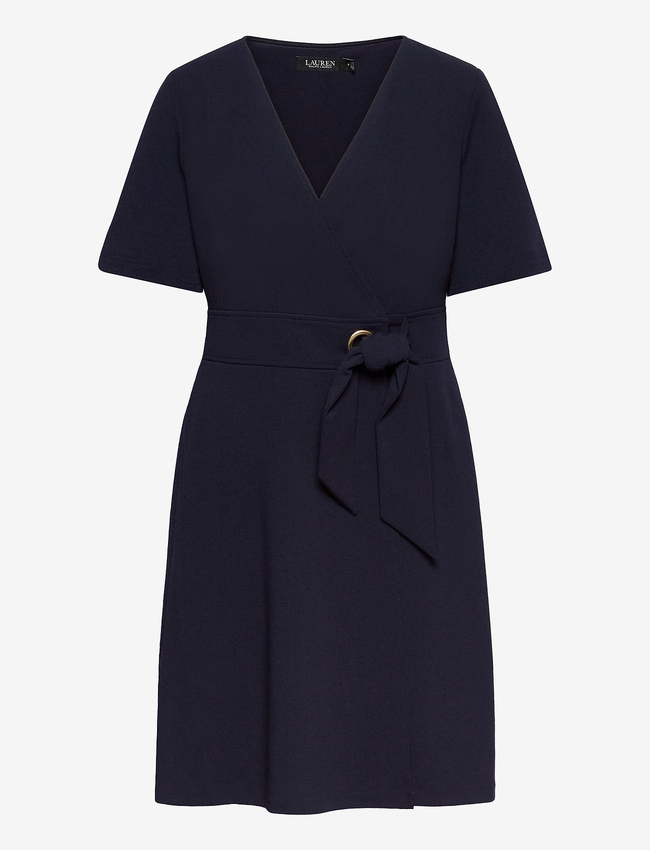 Lauren Ralph Lauren - Crepe Fit-and-Flare Dress - robes de jour - lighthouse navy - 0