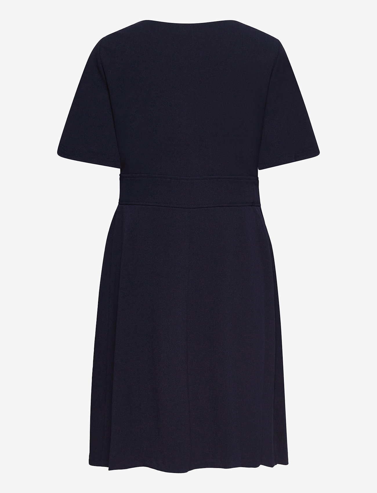 Lauren Ralph Lauren - Crepe Fit-and-Flare Dress - robes de jour - lighthouse navy - 1