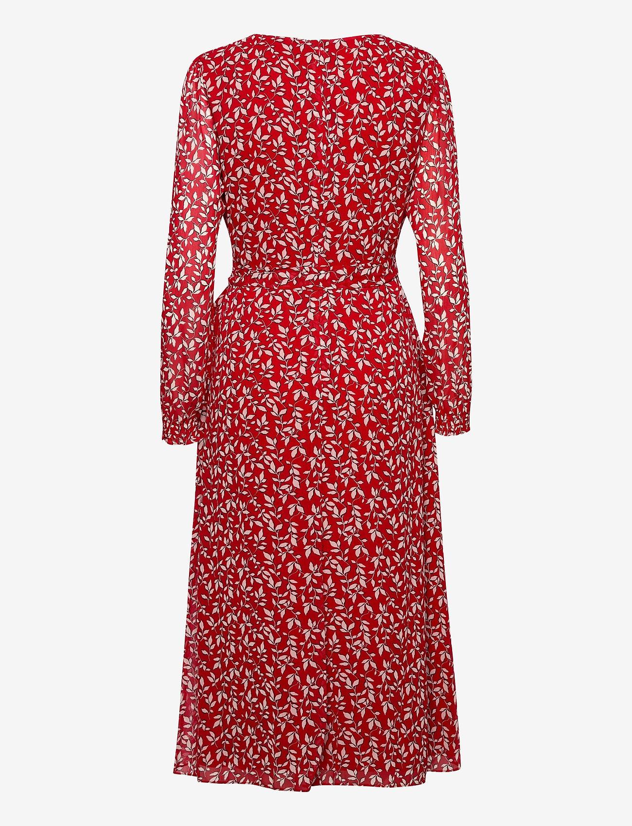 Lauren Ralph Lauren - Print Georgette Dress - sommerkjoler - lipstick red/col - 1