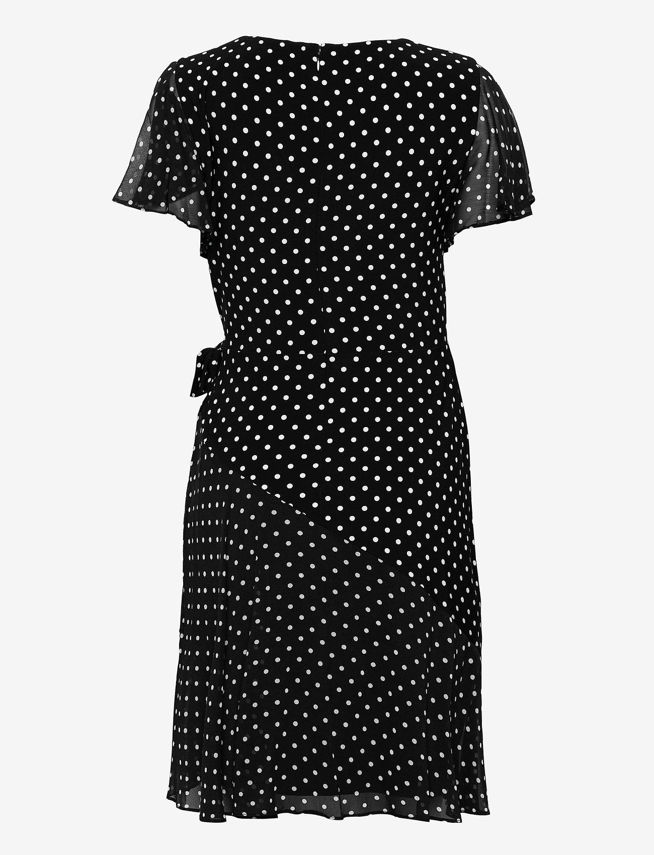 Lauren Ralph Lauren - Print Jersey-Georgette Dress - hverdagskjoler - black/colonial cr - 1