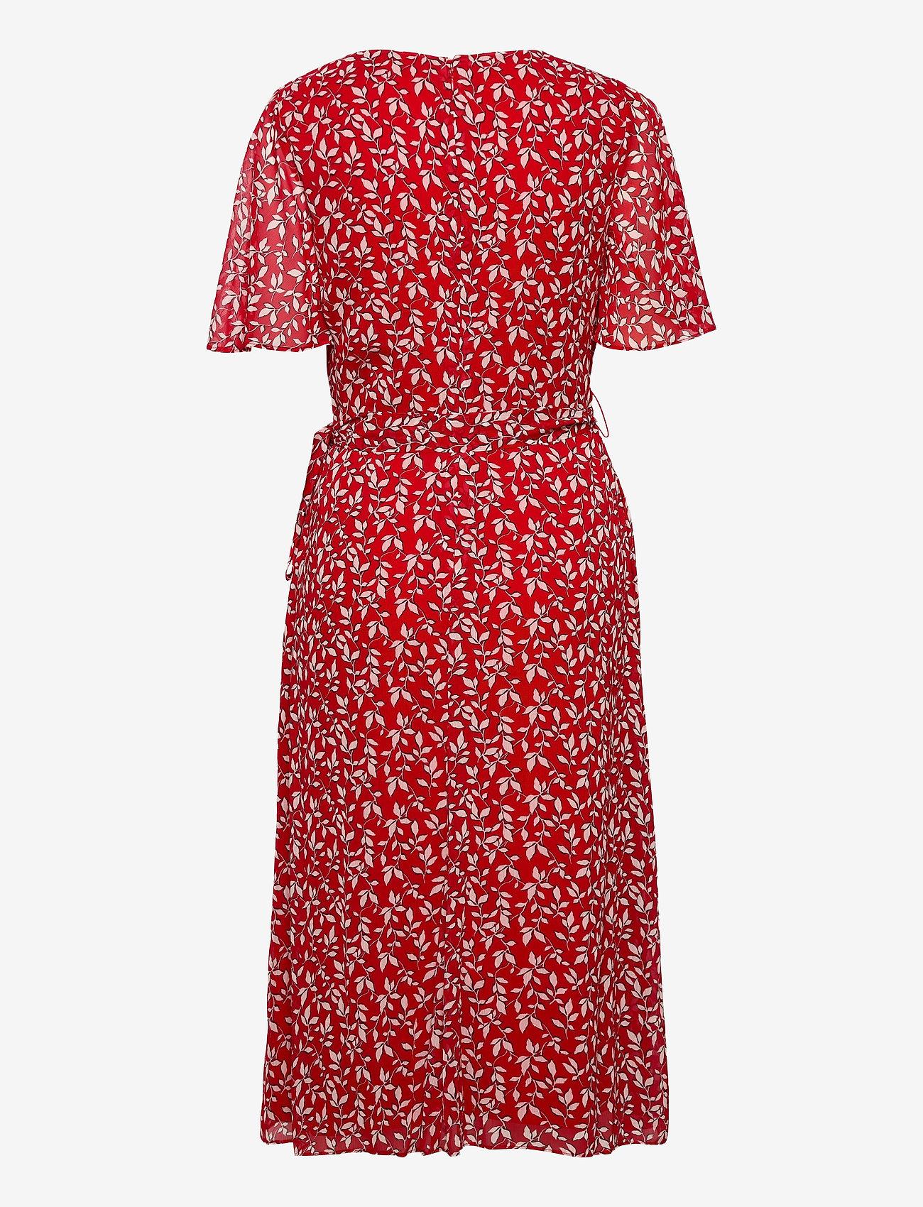 Lauren Ralph Lauren - Print Georgette Dress - robes d'été - lipstick red/col - 1