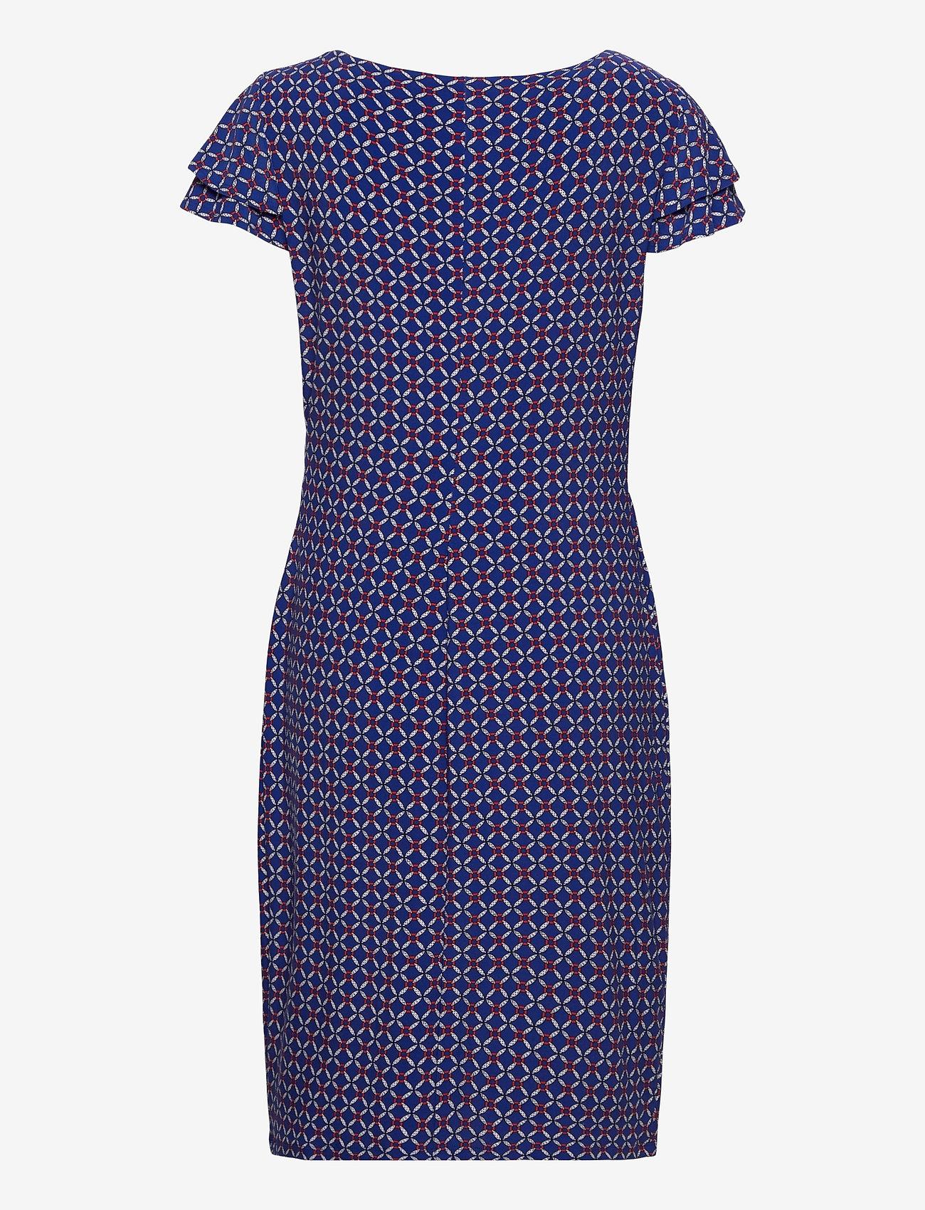 Lauren Ralph Lauren - Print Jersey Surplice Dress - robes de jour - french ultramarin - 1