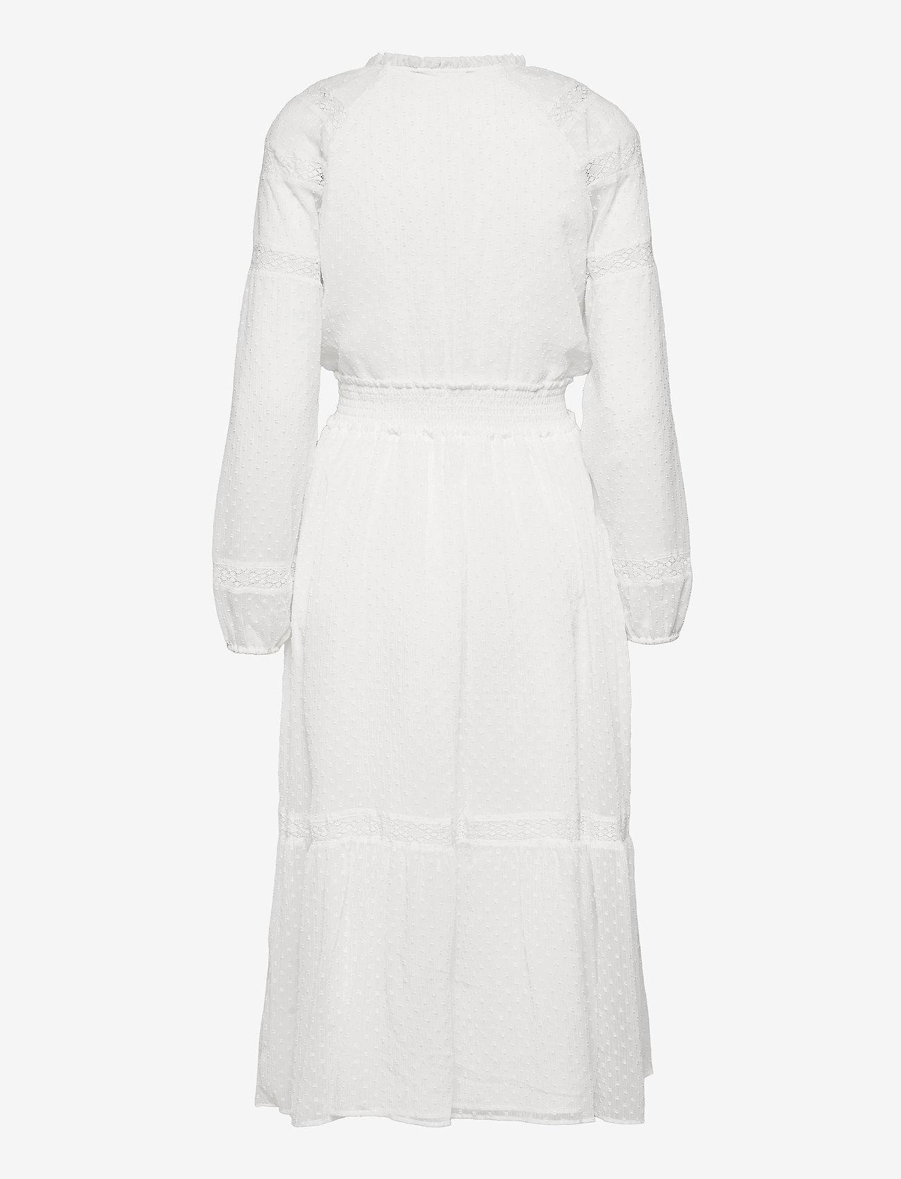 Lauren Ralph Lauren - Polka-Dot Lace-Trim Dobby Dress - alledaagse jurken - lauren white - 2