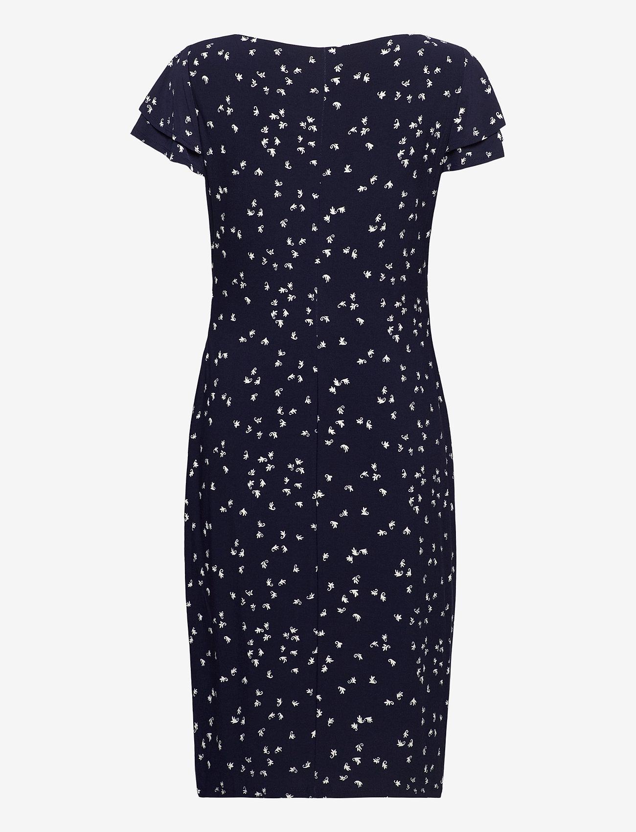 Lauren Ralph Lauren - Print Jersey Surplice Dress - sommerkjoler - lighthouse navy/c - 1