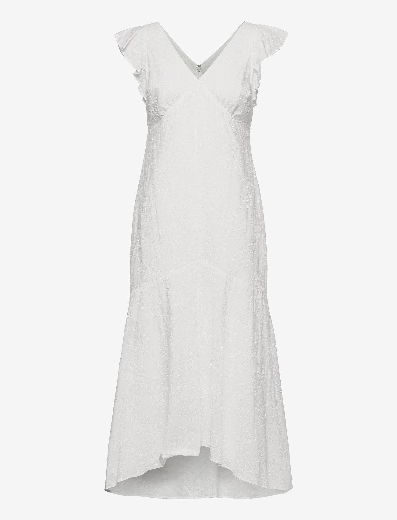 Lauren Ralph Lauren - Embroidered Cotton Drop-Waist Dress - sukienki dopasowane - lauren white - 0
