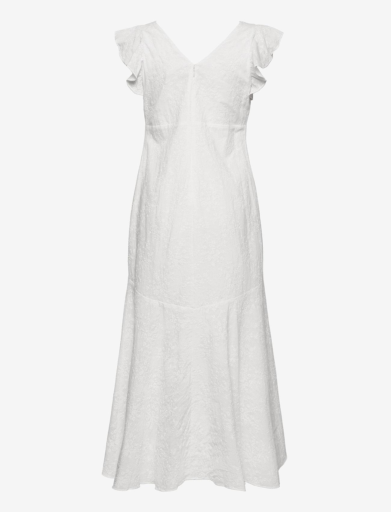 Lauren Ralph Lauren - Embroidered Cotton Drop-Waist Dress - sukienki dopasowane - lauren white - 1