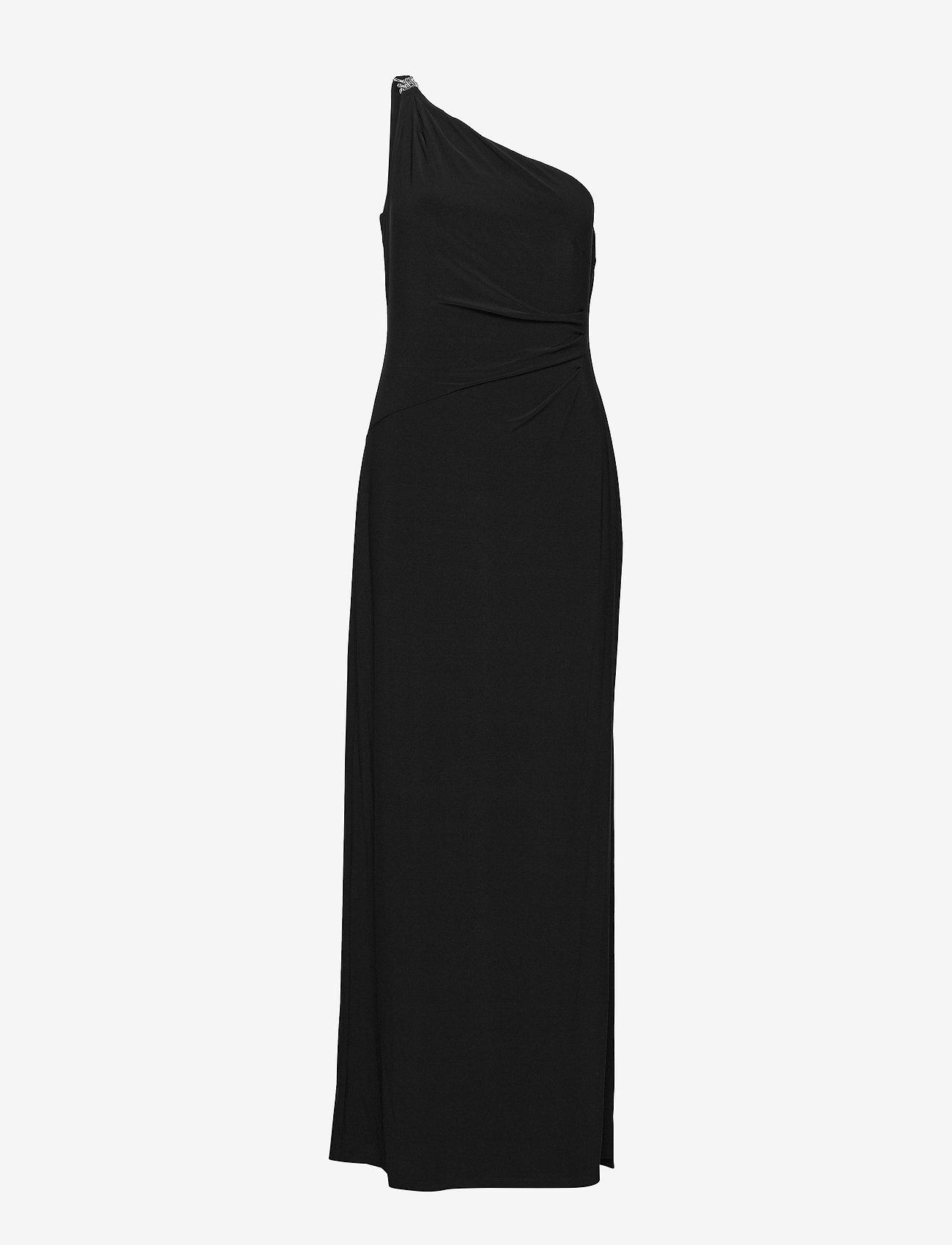 Lauren Ralph Lauren - Jersey One-Shoulder Gown - kveldskjoler - black - 0