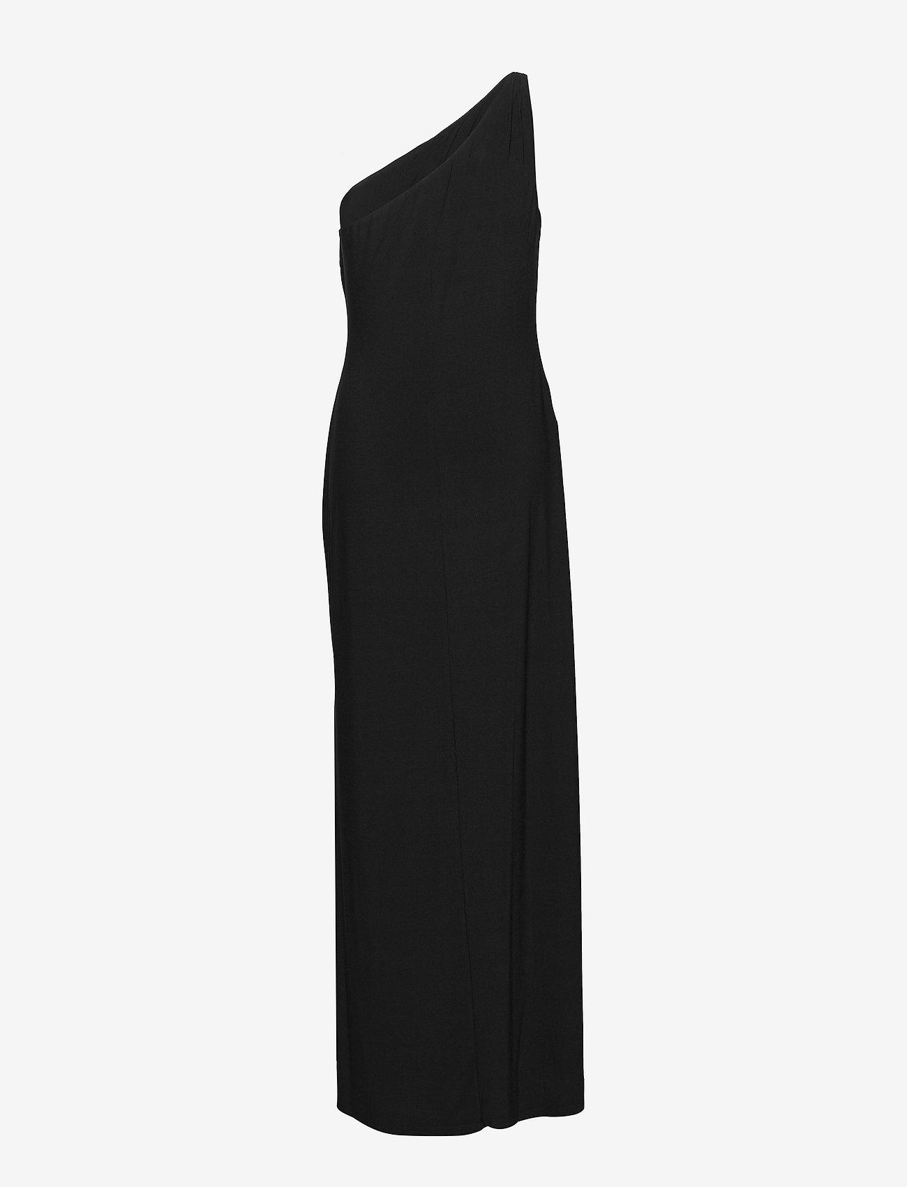 Lauren Ralph Lauren - Jersey One-Shoulder Gown - kveldskjoler - black - 1