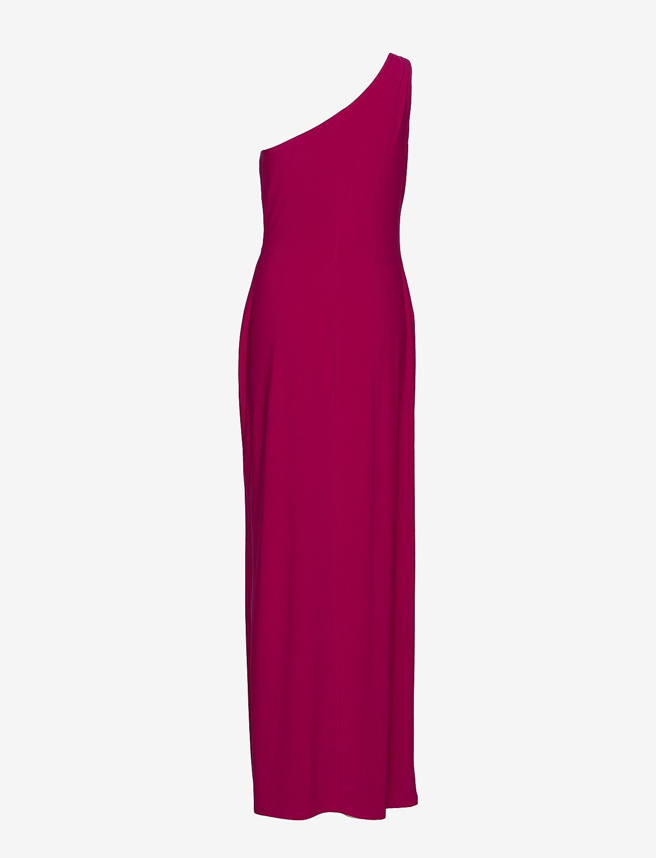 Lauren Ralph Lauren - Jersey One-Shoulder Gown - maxi sukienki - bright fuchsia - 1