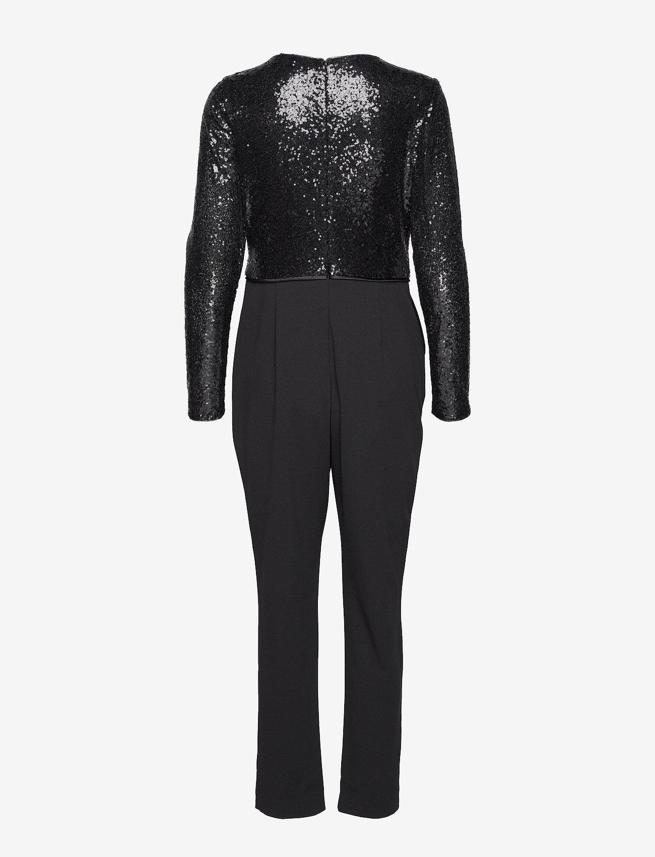 Luxe Tech Crepe-jumpsuit W/combo (Black) - Lauren Ralph Lauren 4zFTSo