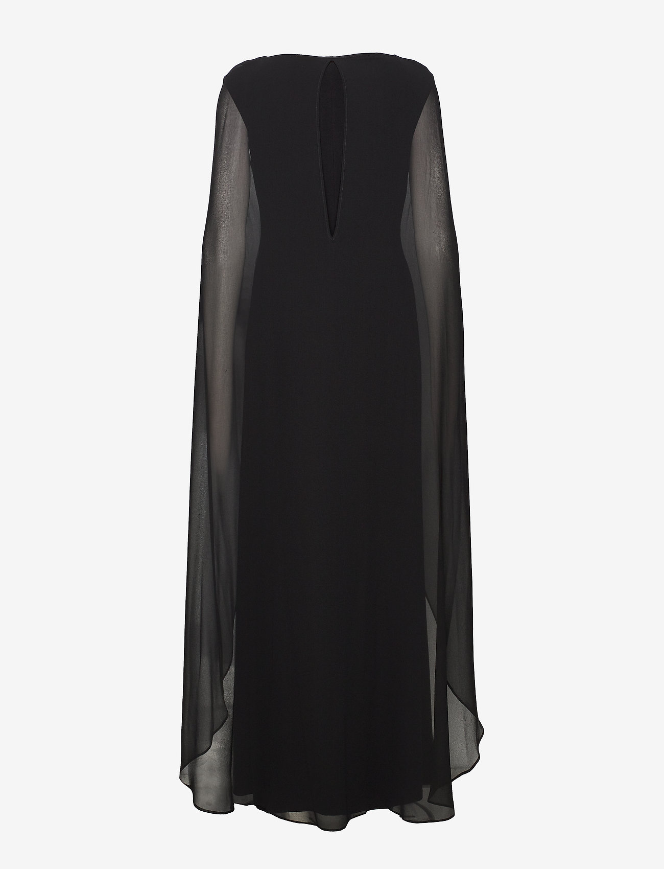 Lauren Ralph Lauren - Georgette-Cape Jersey Gown - kveldskjoler - black - 1