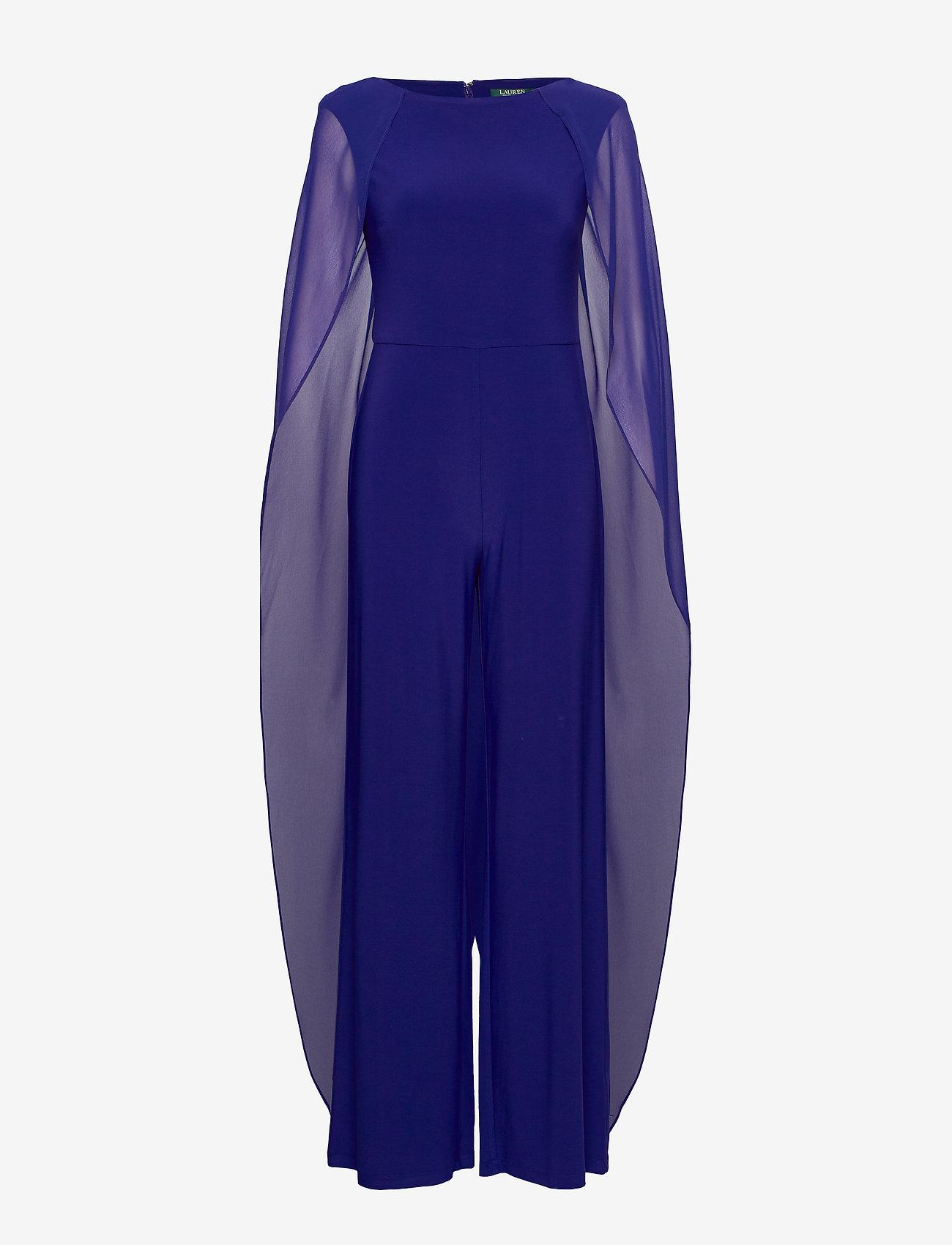 Lauren Ralph Lauren - Cape Georgette Jumpsuit - haalarit - cannes blue - 0